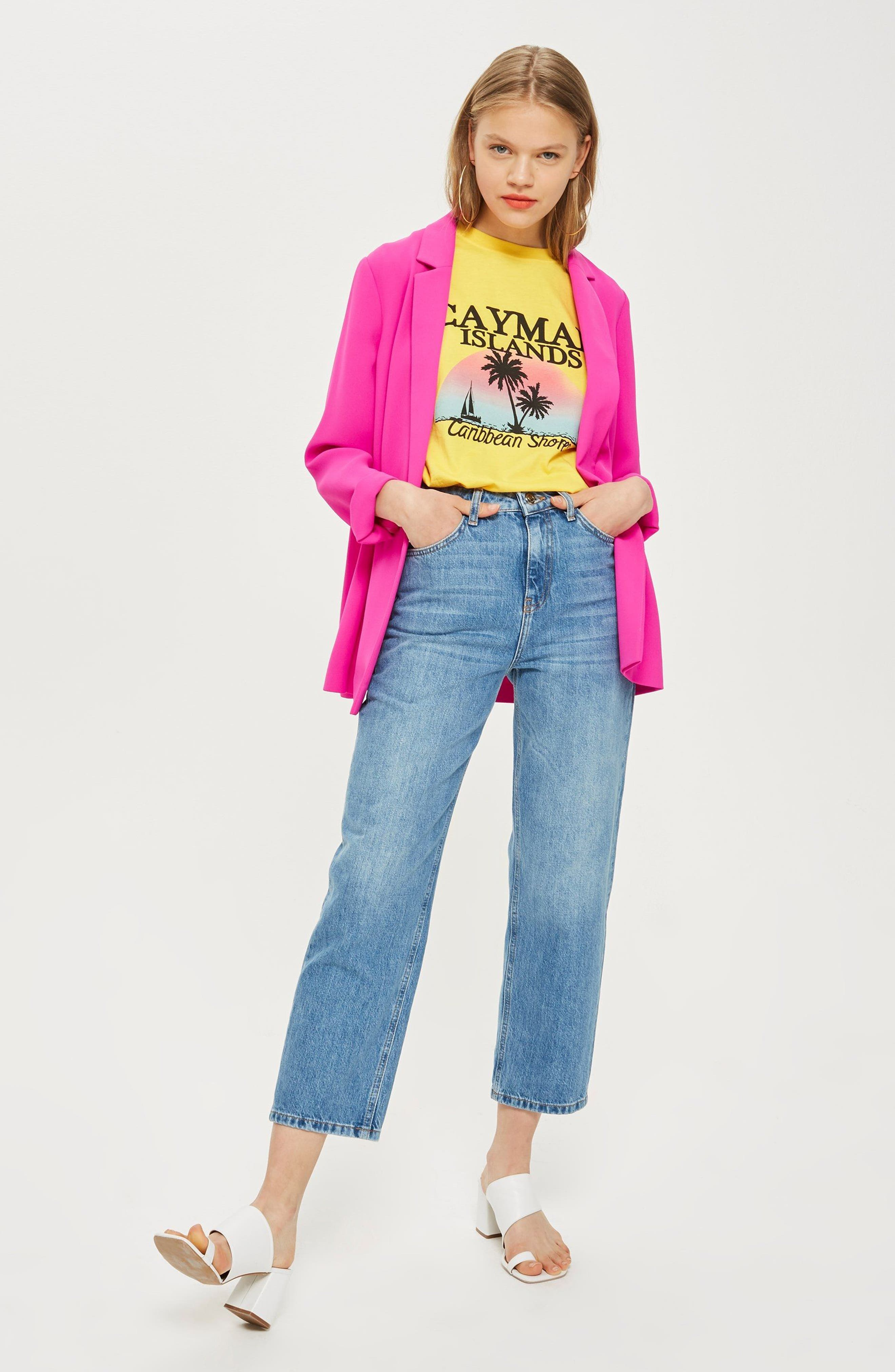 Ava Double Breasted Jacket,                             Alternate thumbnail 2, color,                             Fuschia