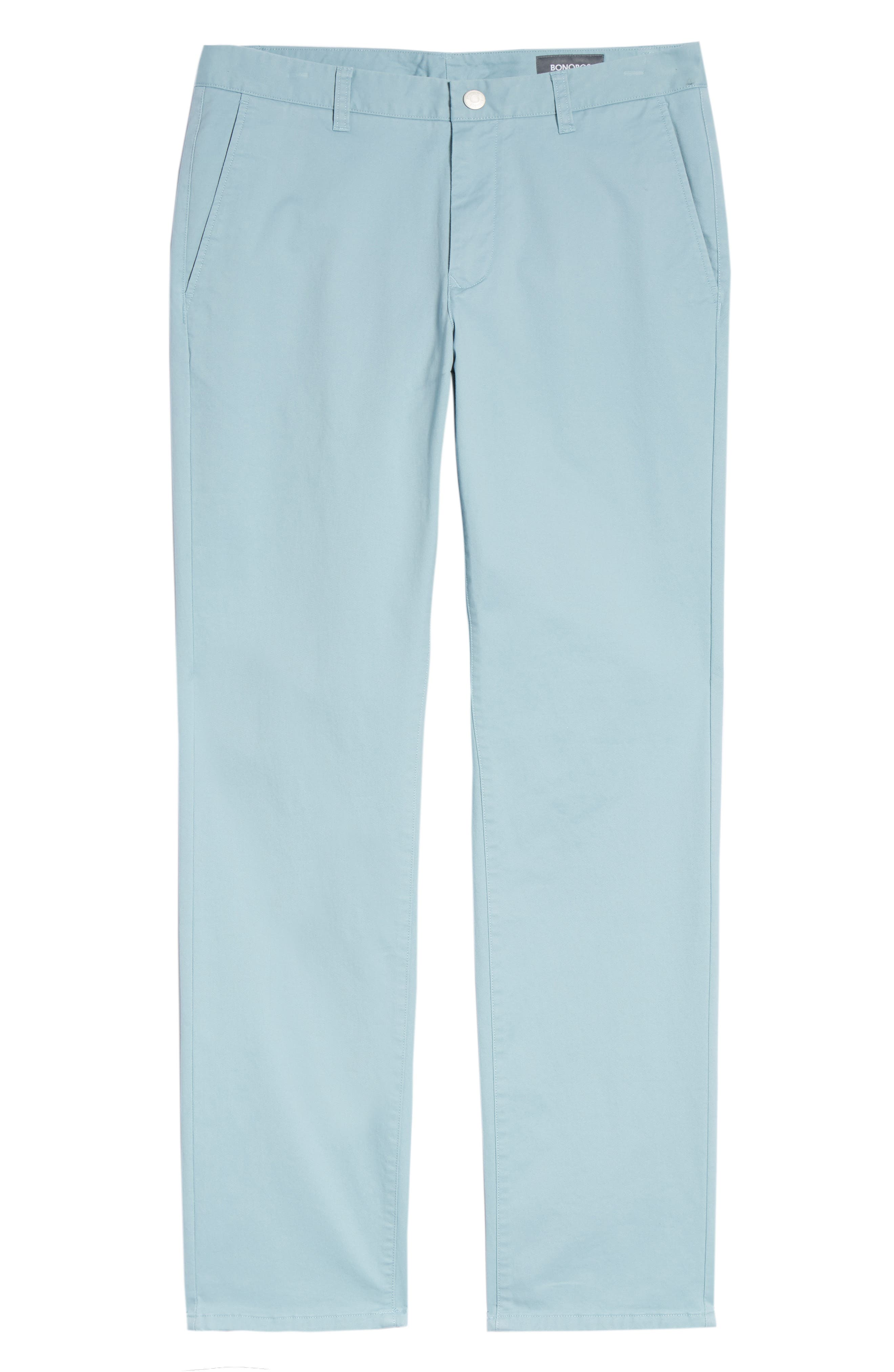 Slim Fit Stretch Washed Chinos,                             Alternate thumbnail 7, color,                             Yucca Blue