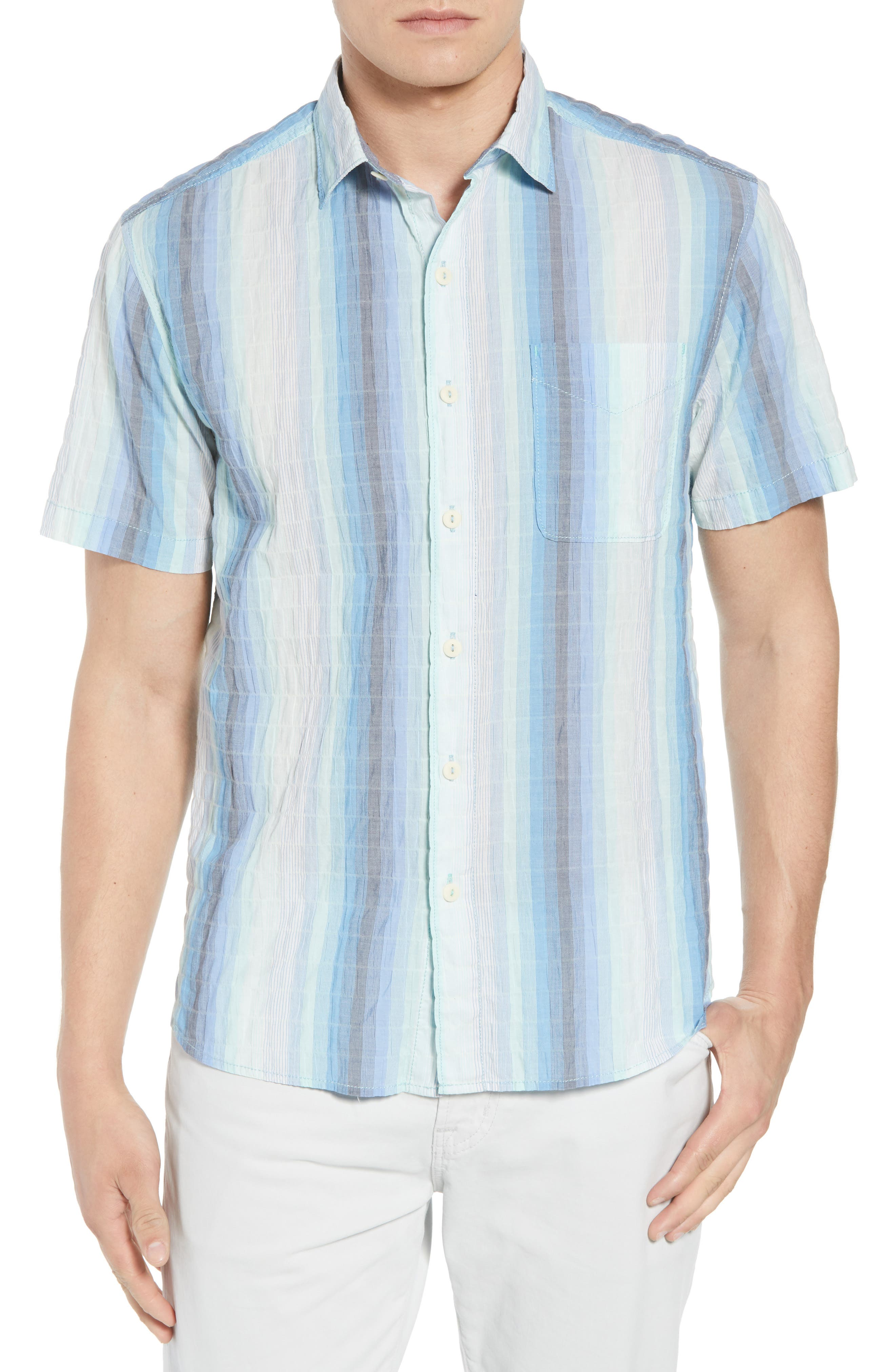 La Prisma Stripe Sport Shirt,                             Main thumbnail 1, color,                             Mint Mojito