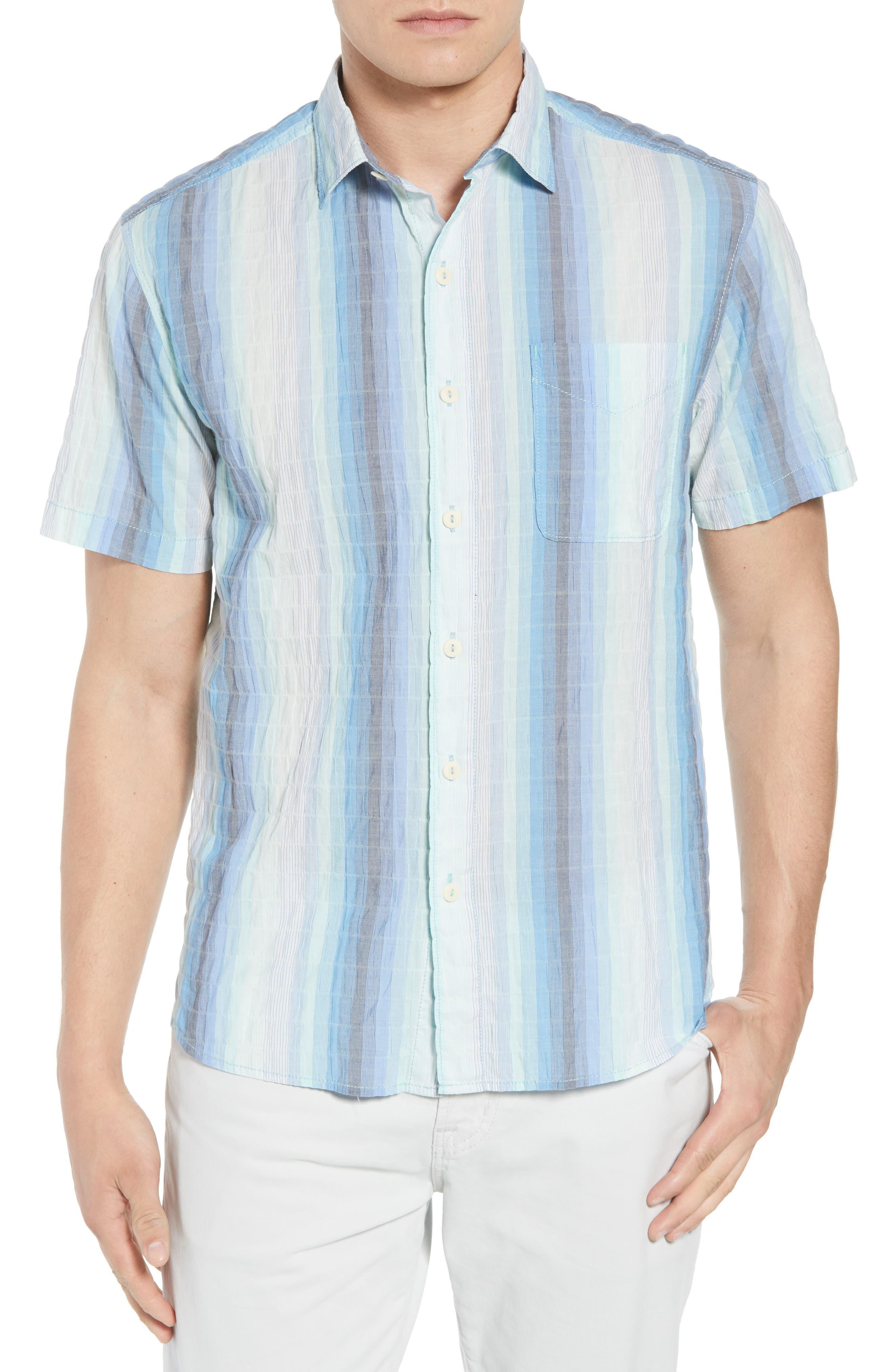La Prisma Stripe Sport Shirt,                         Main,                         color, Mint Mojito