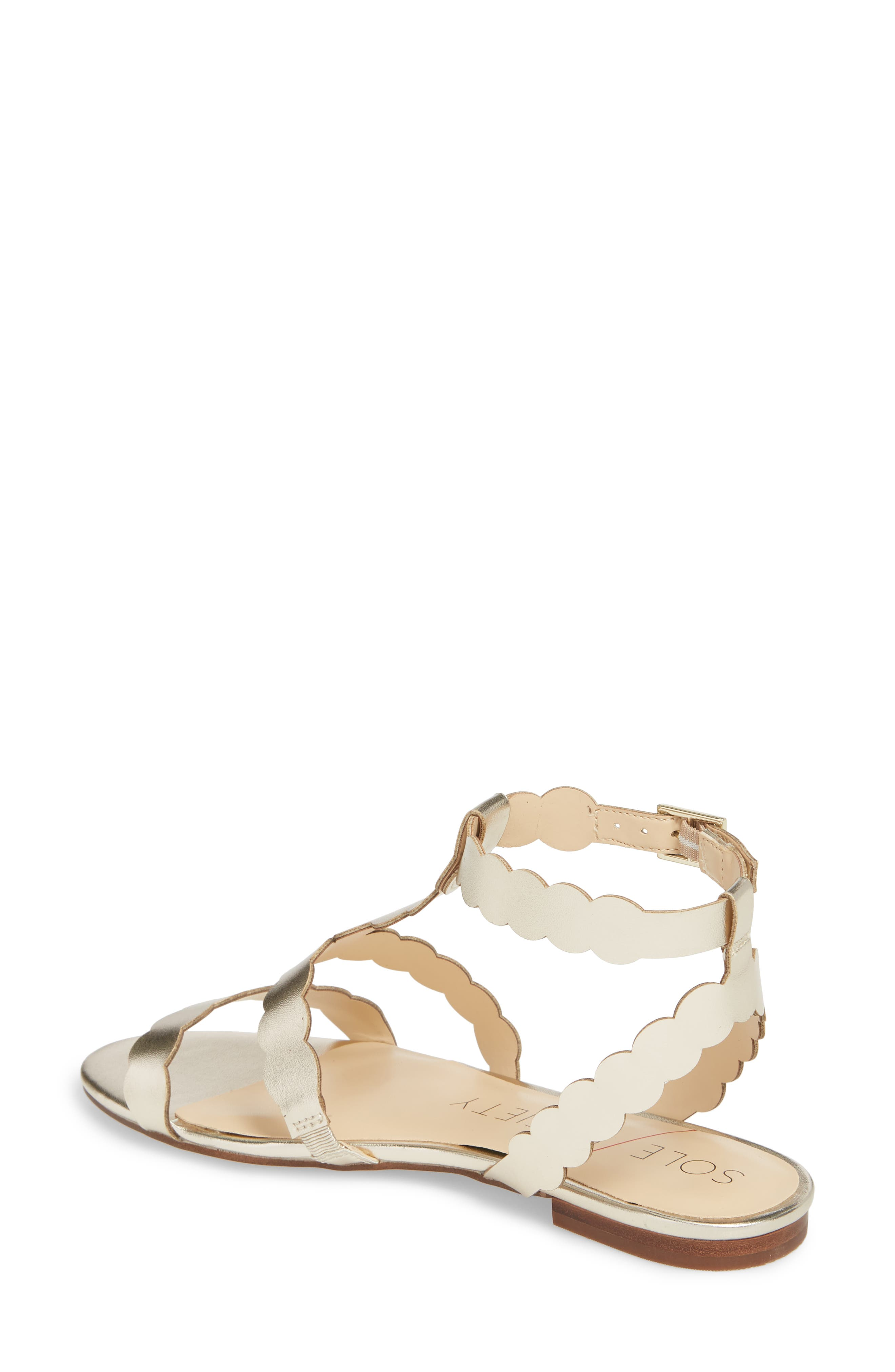 So-Maladee Flat Sandal,                             Alternate thumbnail 2, color,                             Totes Gold