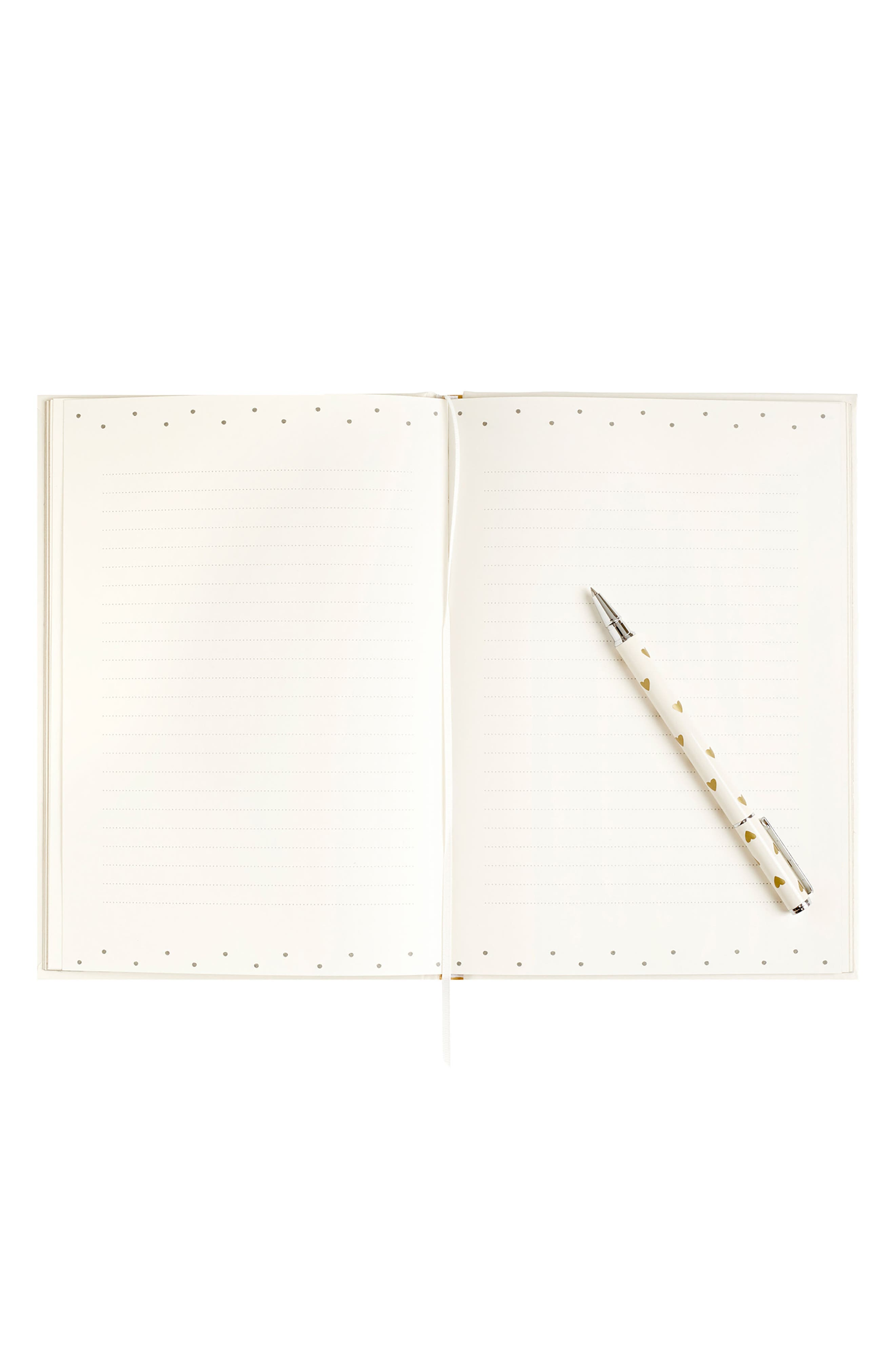 Always & Forever Hardcover Wedding Guestbook,                             Alternate thumbnail 3, color,                             Gold