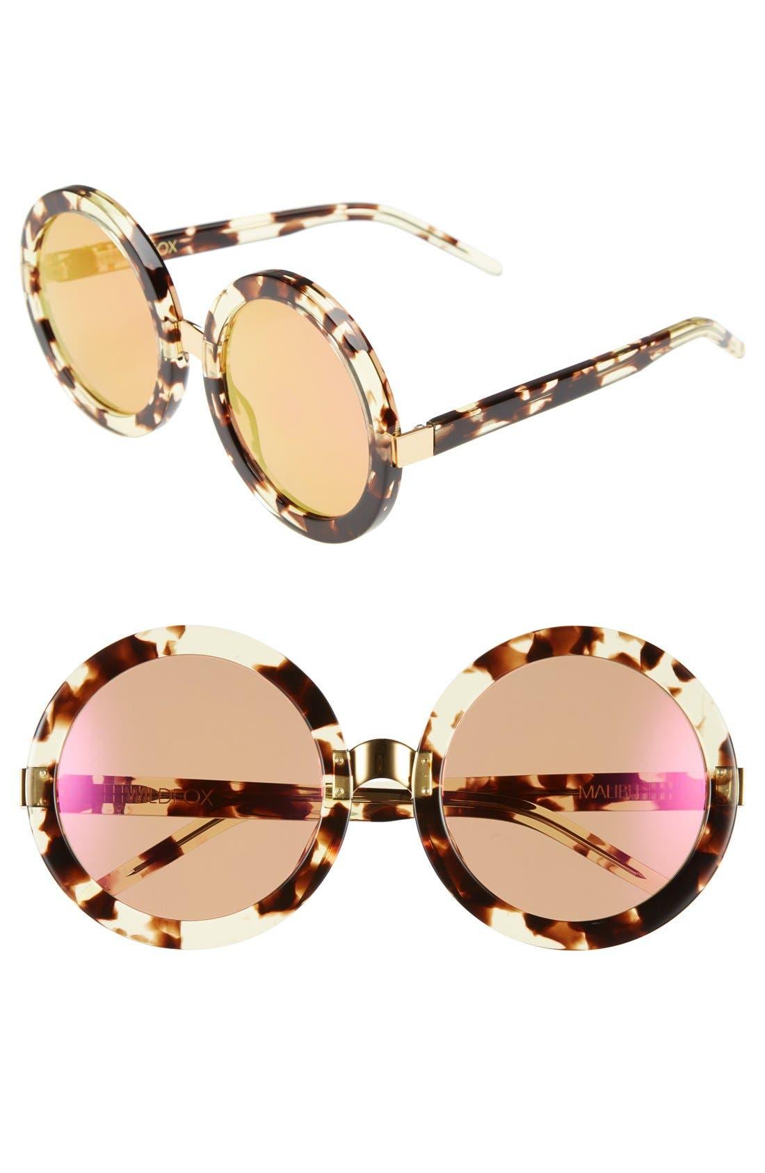 Main Image - Wildfox 'Malibu Deluxe' 55mm Retro Sunglasses