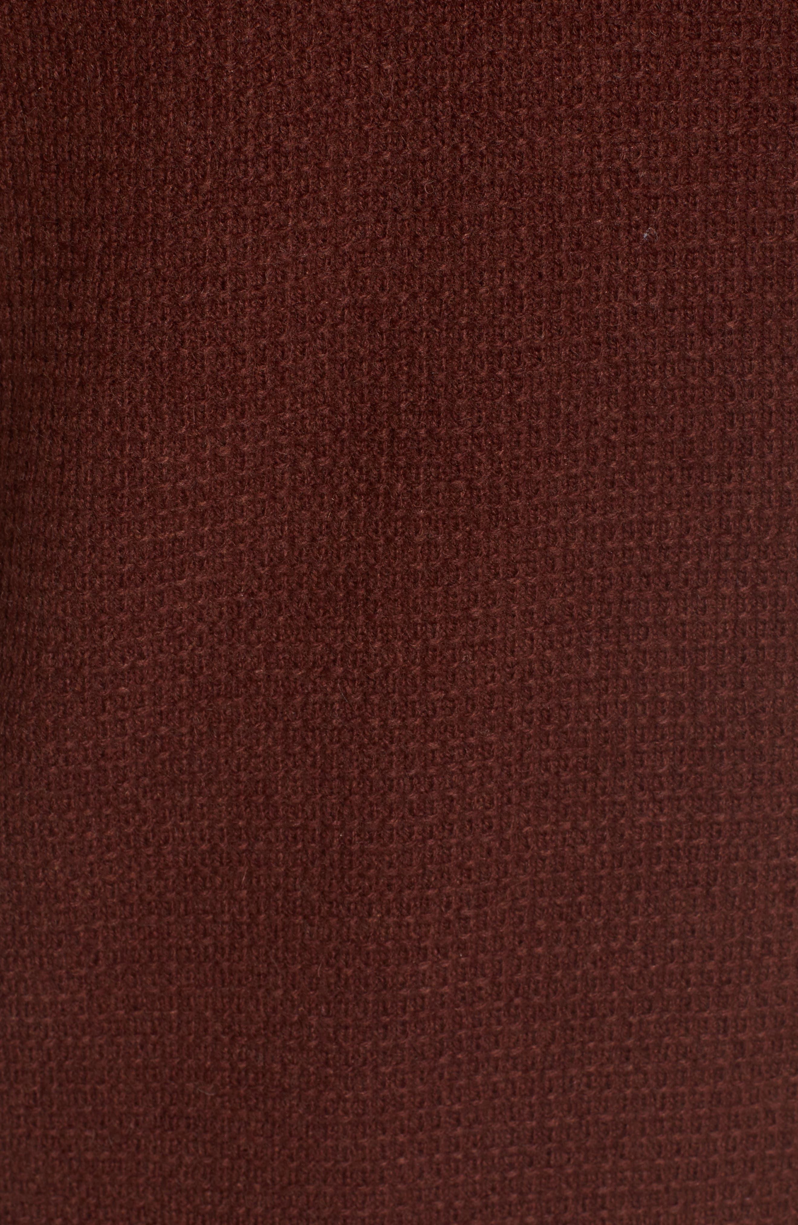 Thermal Henley,                             Alternate thumbnail 5, color,                             Burgundy
