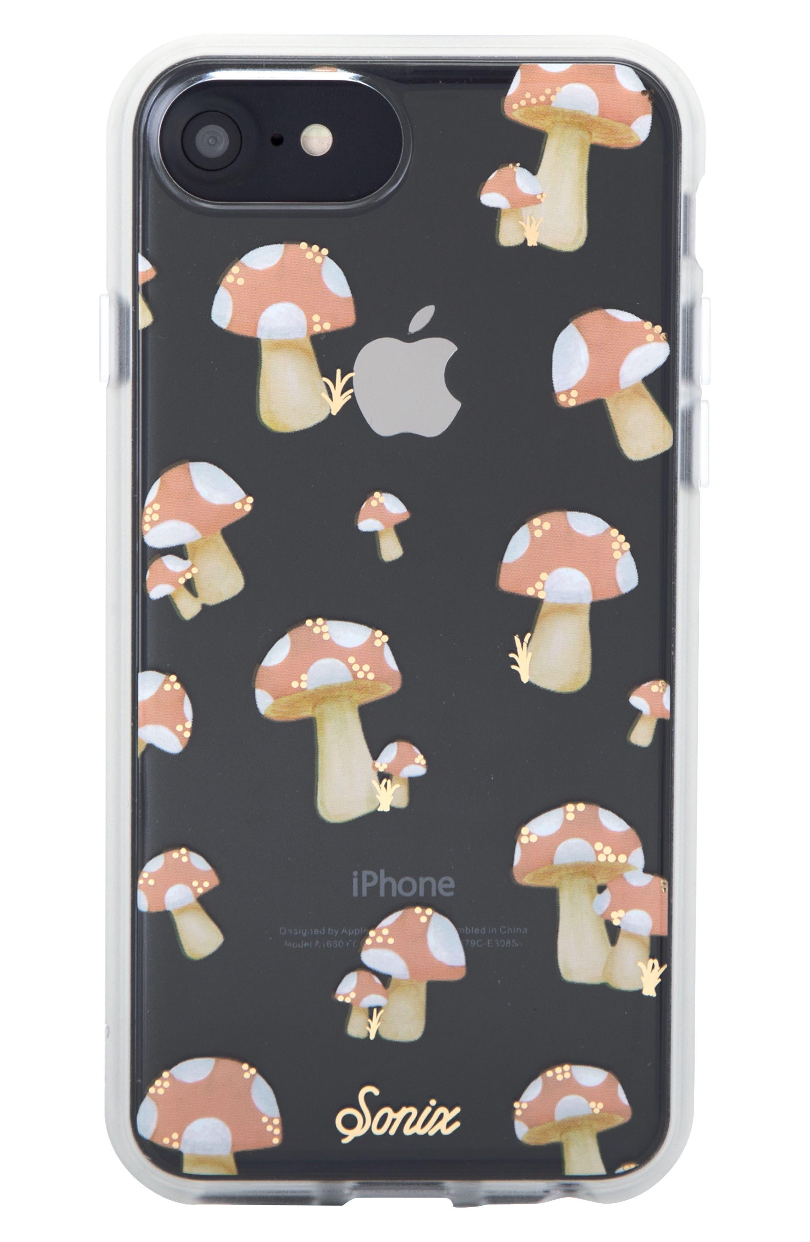 Mushroom iPhone 6/6s/7/8 & 6/6s/7/8 Plus Case,                             Main thumbnail 1, color,                             Peach/ Tan