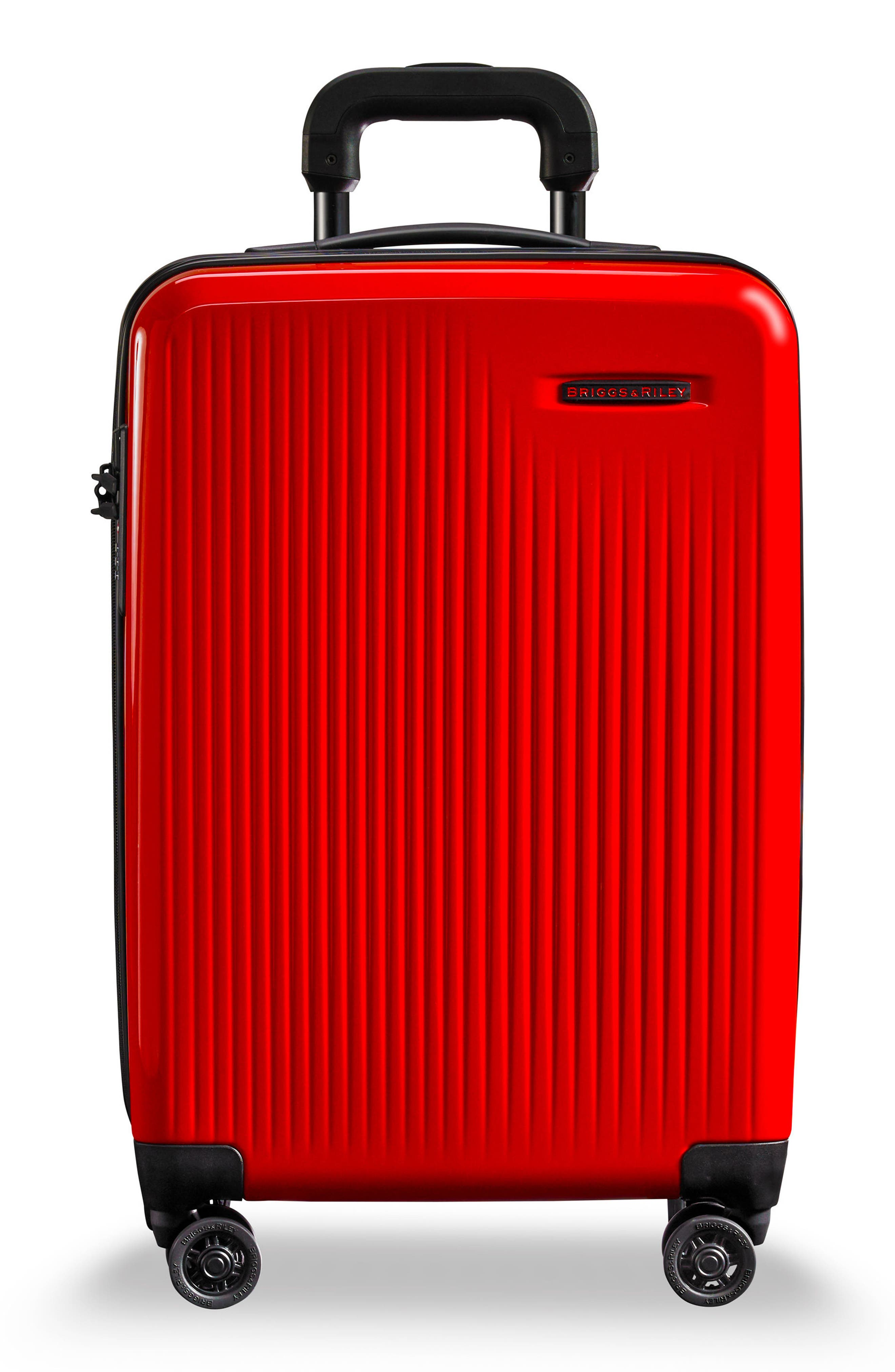 Domestic Expandable Spinner Wheeled Carry-On,                             Main thumbnail 1, color,                             Fire