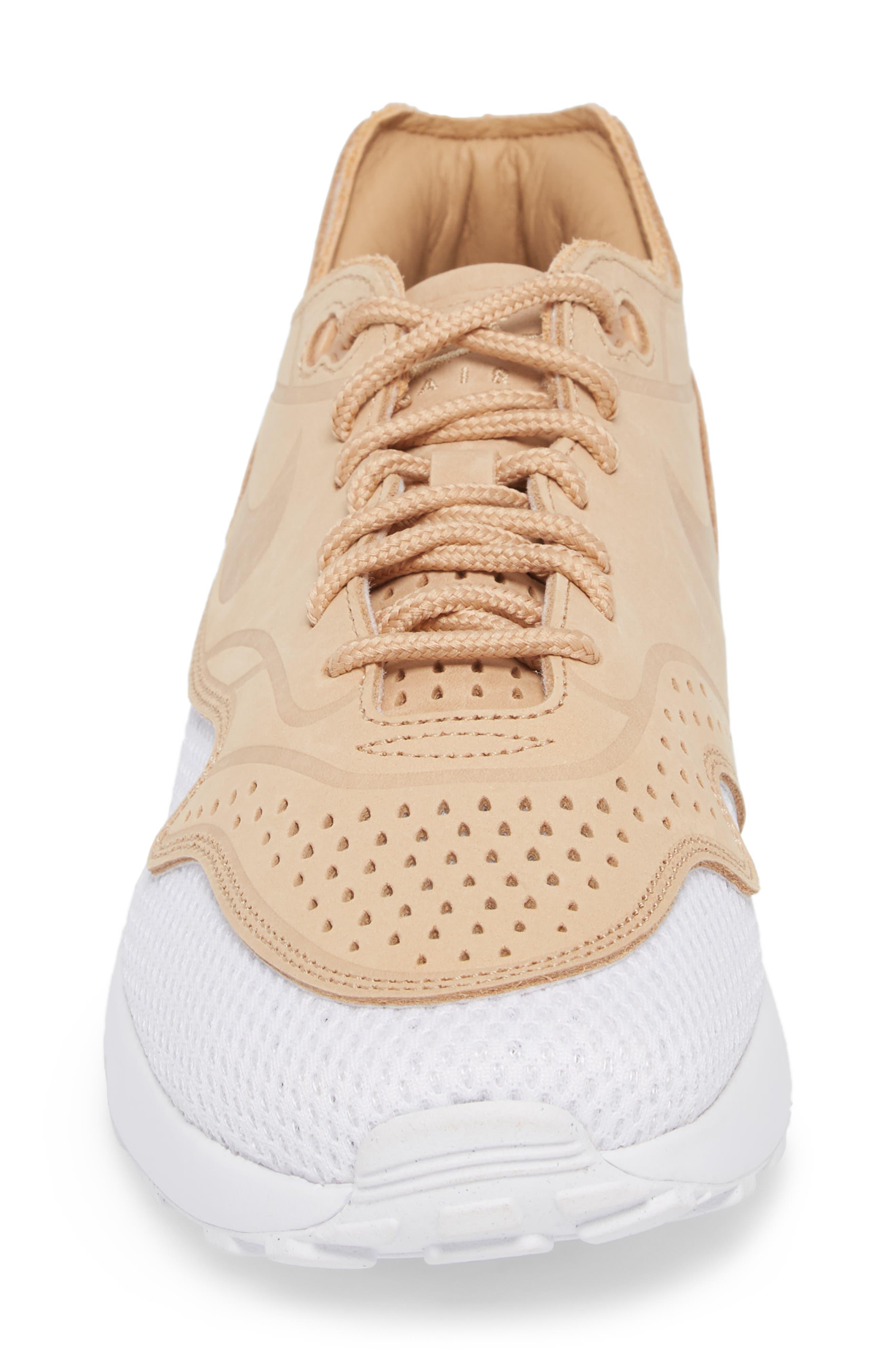 Air Max 1 Ultra 2.0 Premium Sneaker,                             Alternate thumbnail 4, color,                             Vachetta Tan/ White