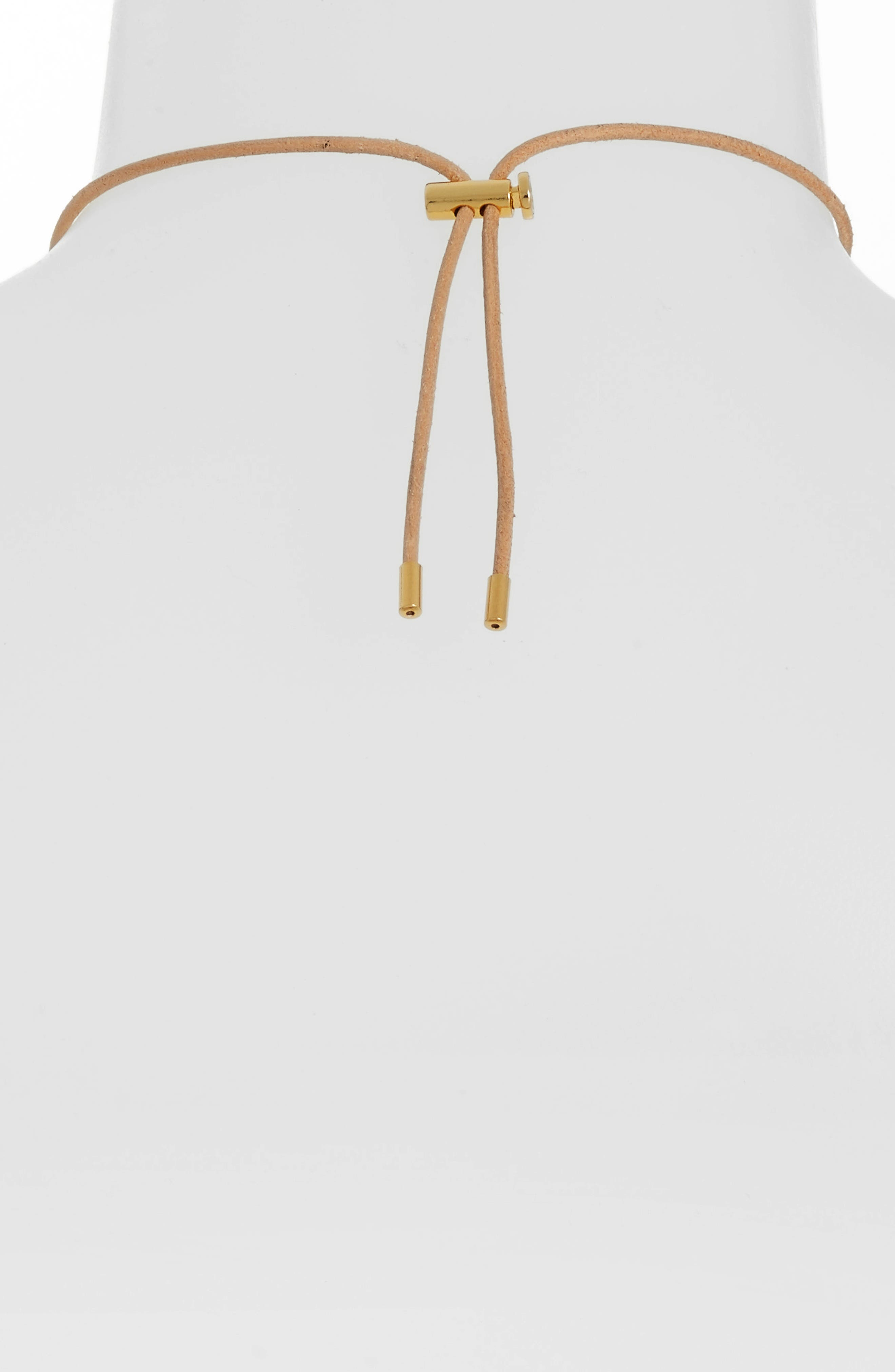 Logo Spinner Pendant Necklace,                             Alternate thumbnail 3, color,                             Gold/ Silver/ Rose Gold