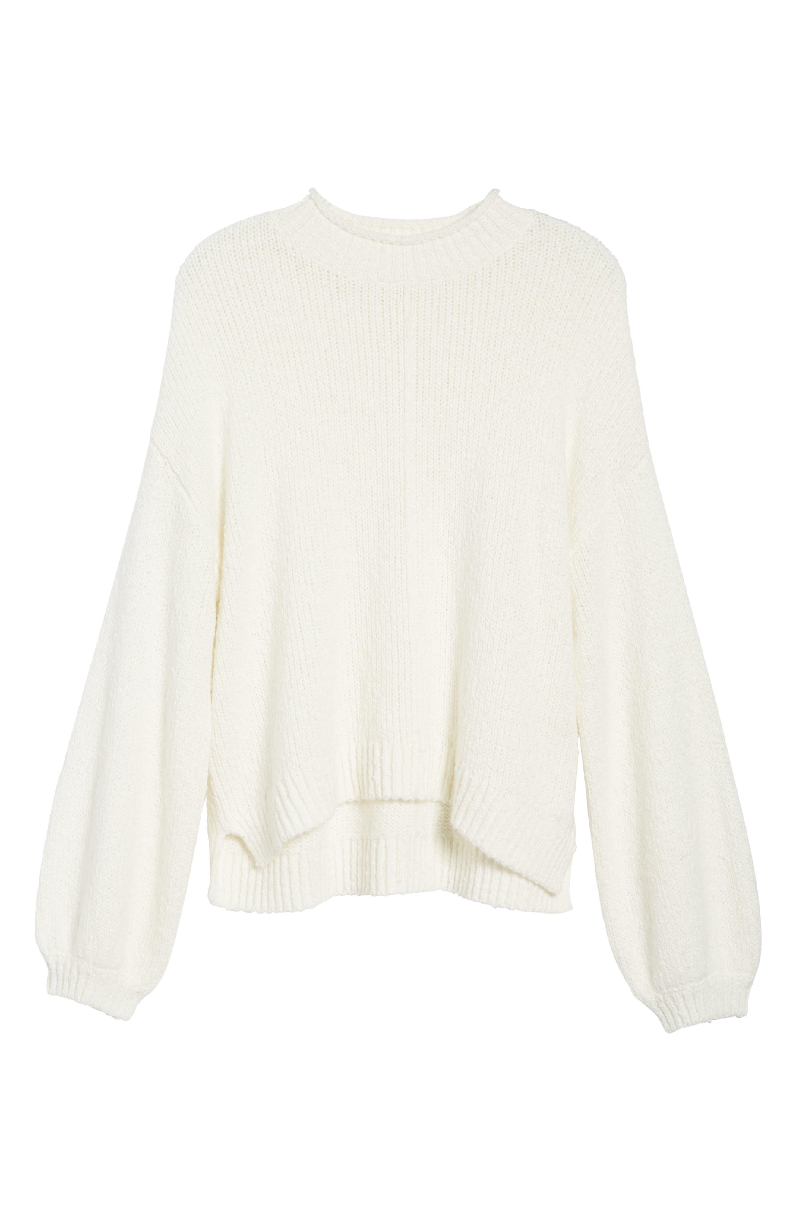 Balloon Sleeve Sweater,                             Alternate thumbnail 7, color,                             Ivory