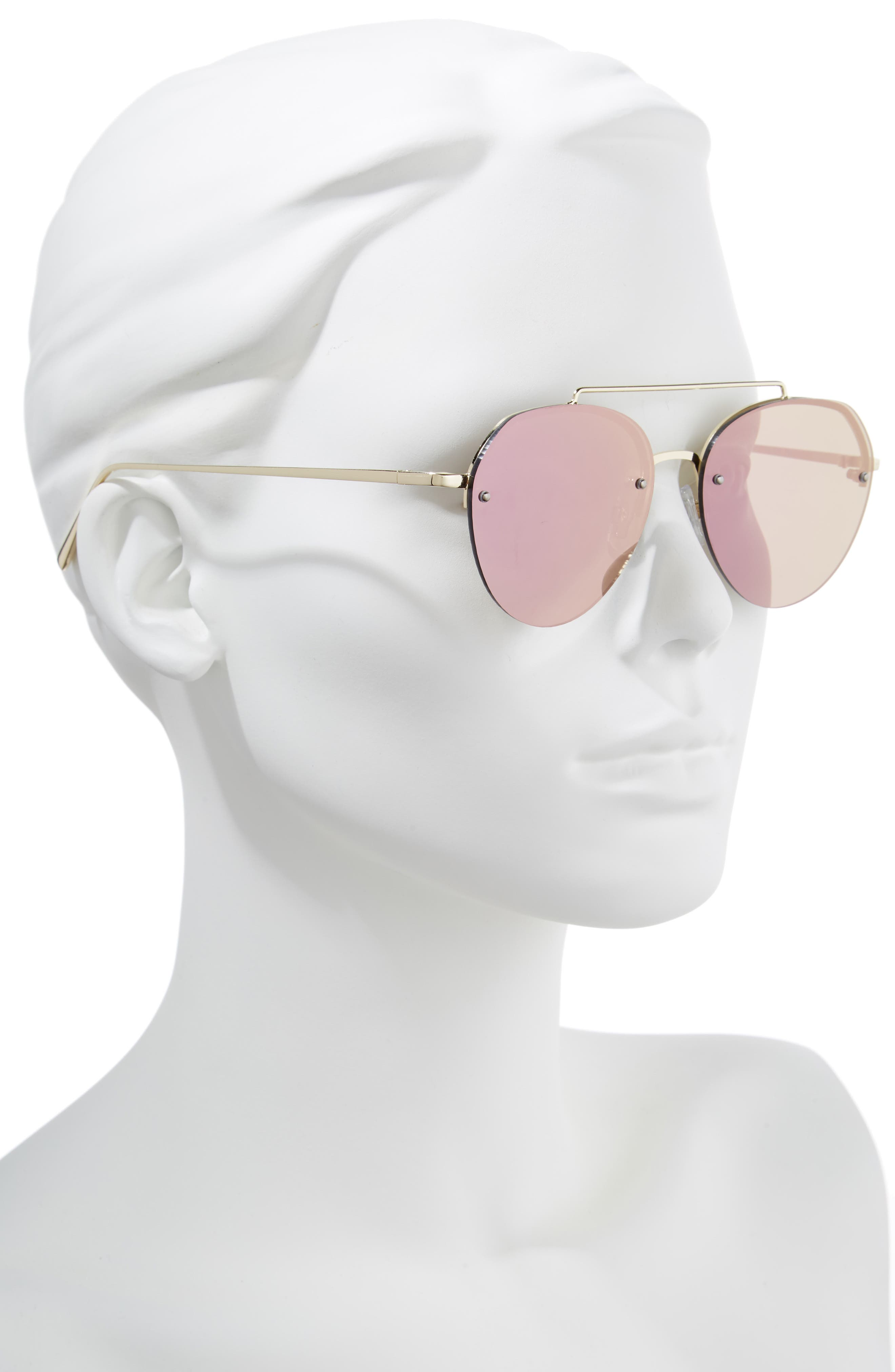 Gradient Petite Aviator Sunglasses,                             Alternate thumbnail 2, color,                             Lavender