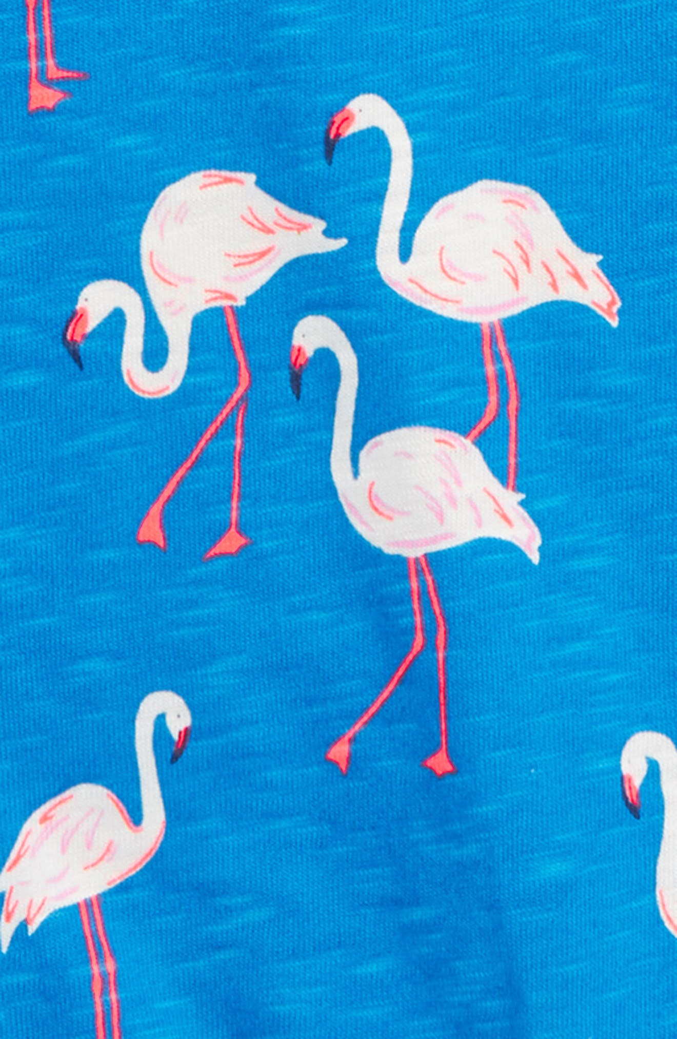 Tie Front Tee,                             Alternate thumbnail 2, color,                             Blue Flamingos