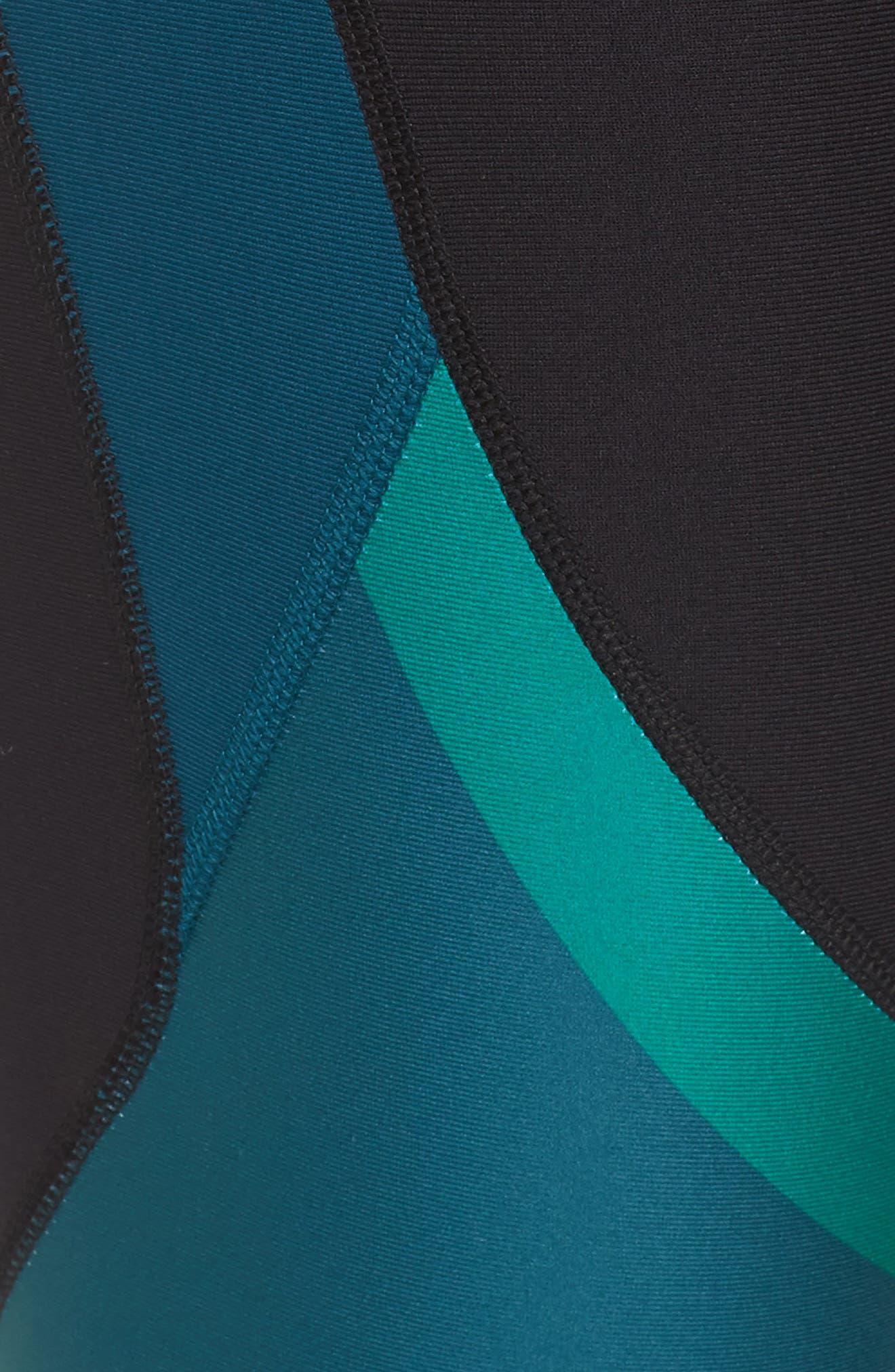 Vanish Chop Block Studio Leggings,                             Alternate thumbnail 6, color,                             Black