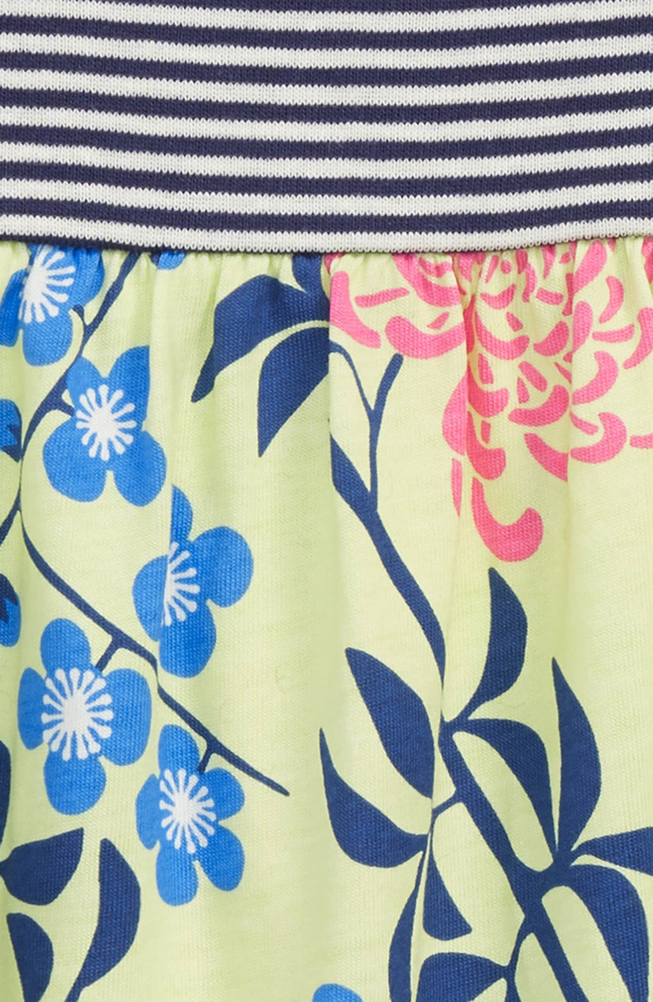 Mix Print Romper,                             Alternate thumbnail 2, color,                             Chrysanthemum Blossoms