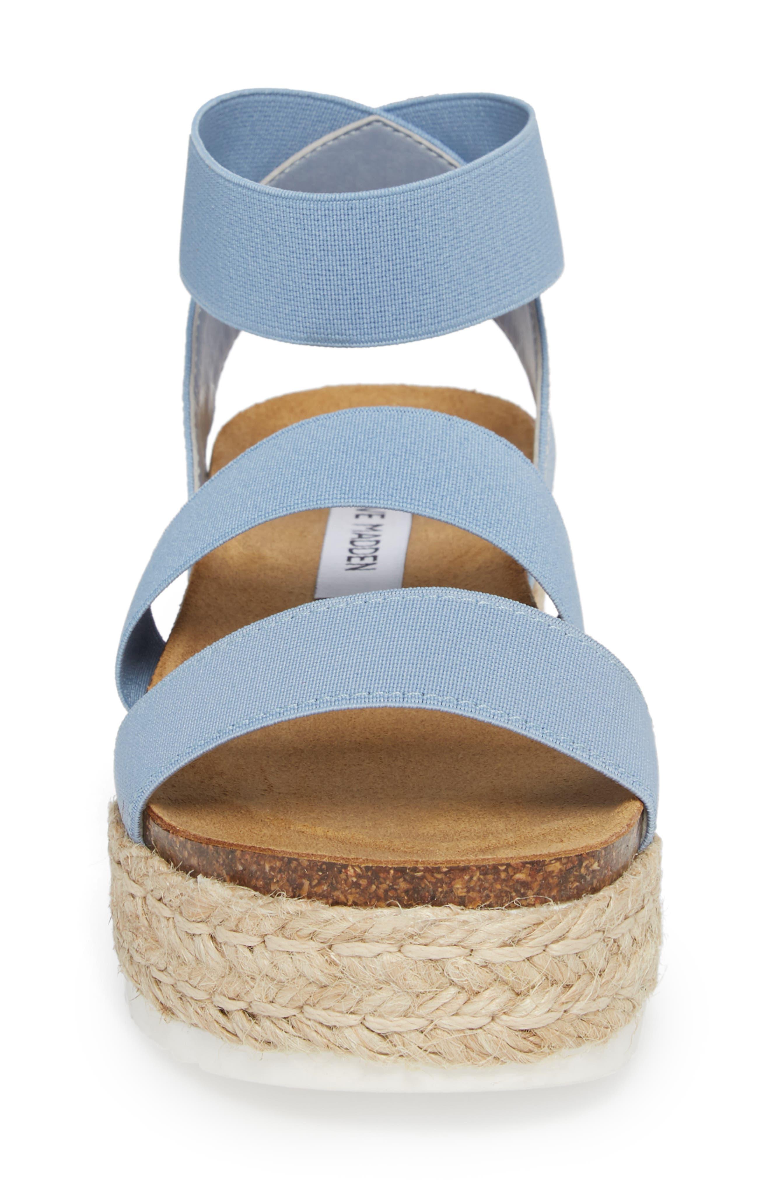 Kimmie Flatform Sandal,                             Alternate thumbnail 4, color,                             Blue