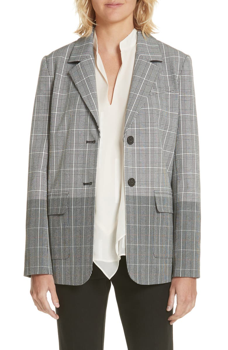 Mixed Plaid Blazer