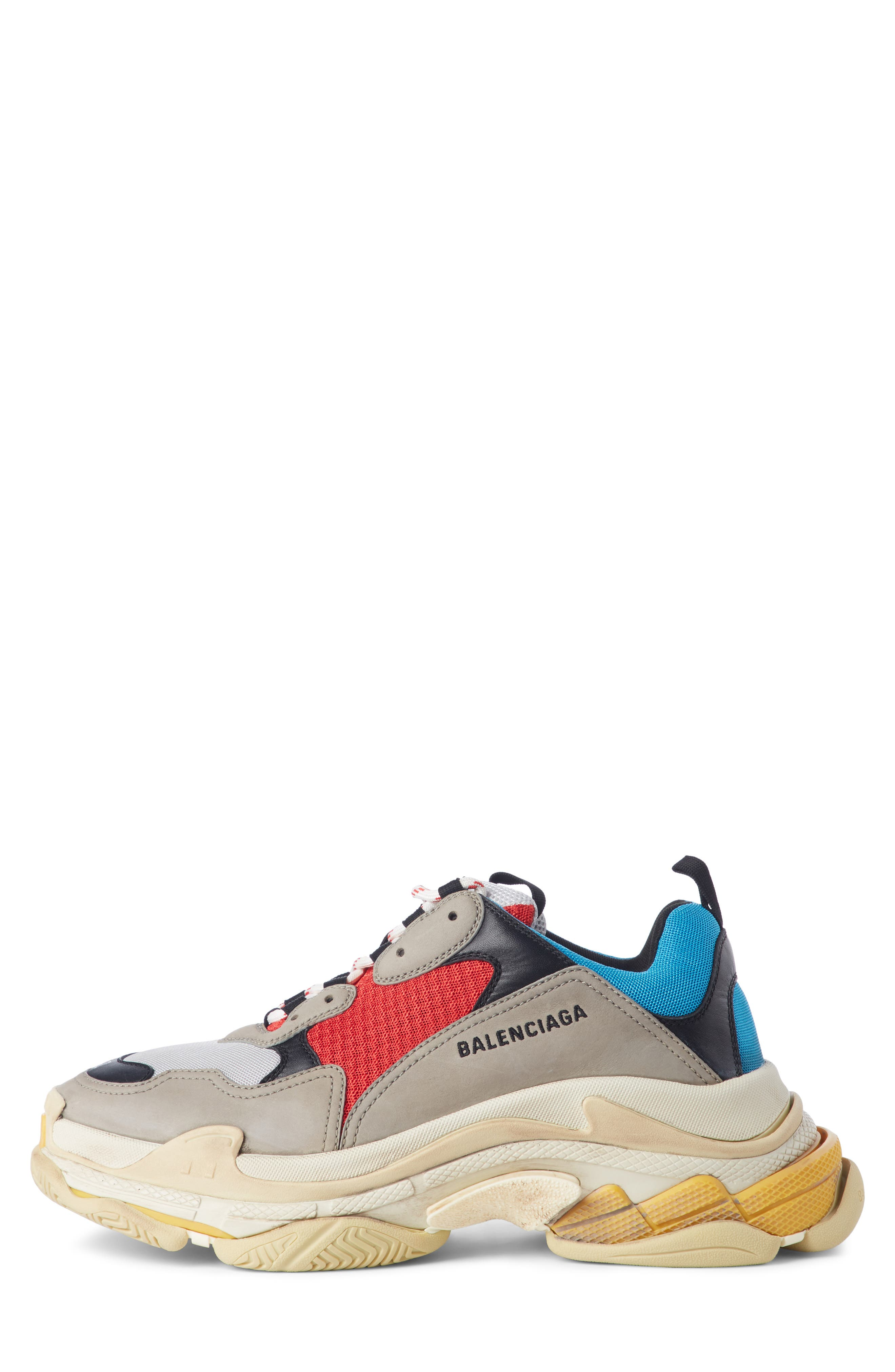 Triple S Retro Sneaker,                             Alternate thumbnail 3, color,                             Beige