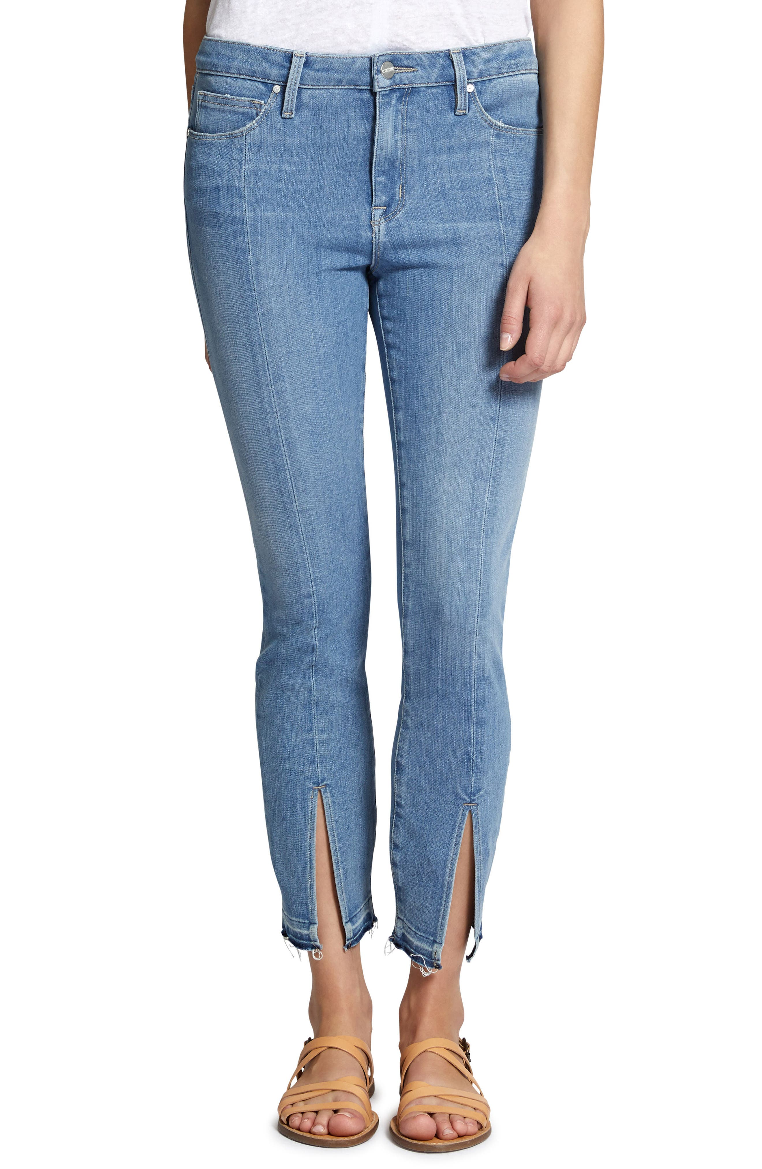 Robbie Spring Slit Jeans,                             Main thumbnail 1, color,                             Harley Wash