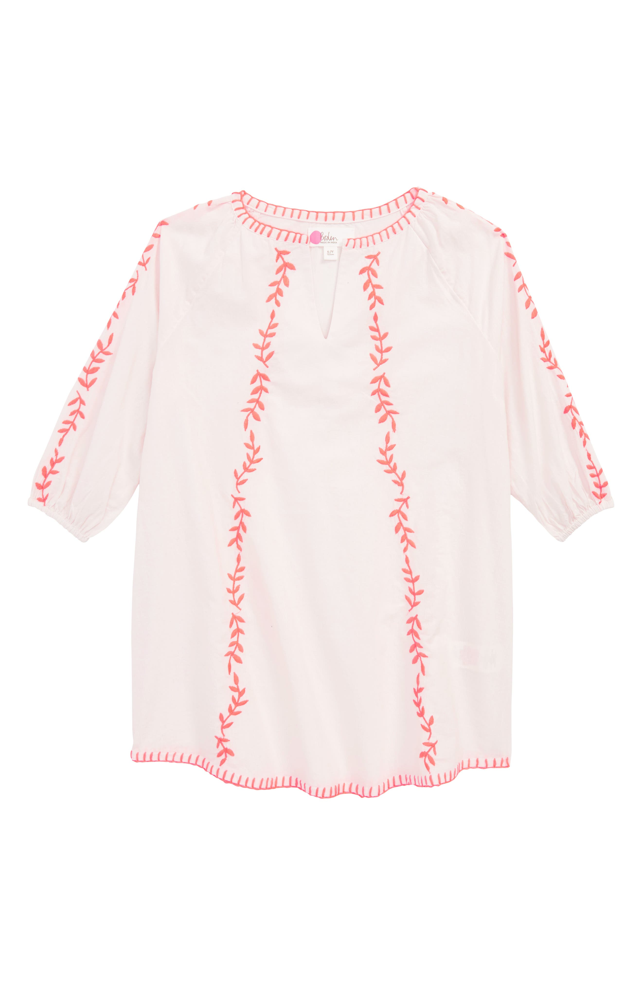 Embroidered Cover-Up Caftan,                         Main,                         color, Pink Mist