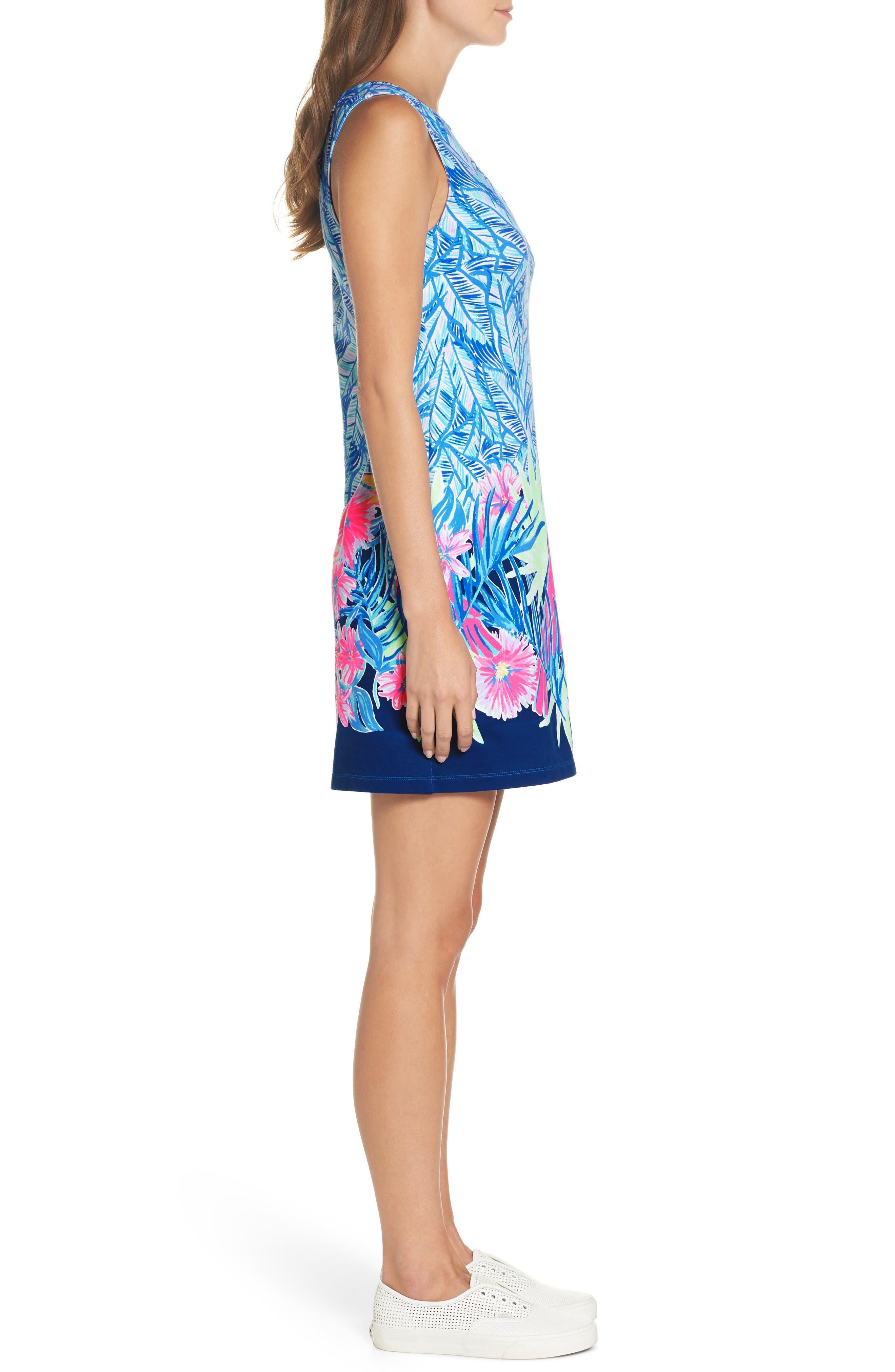 Harper Sleeveless Dress,                             Alternate thumbnail 3, color,                             Bennet Blue Lets Mango