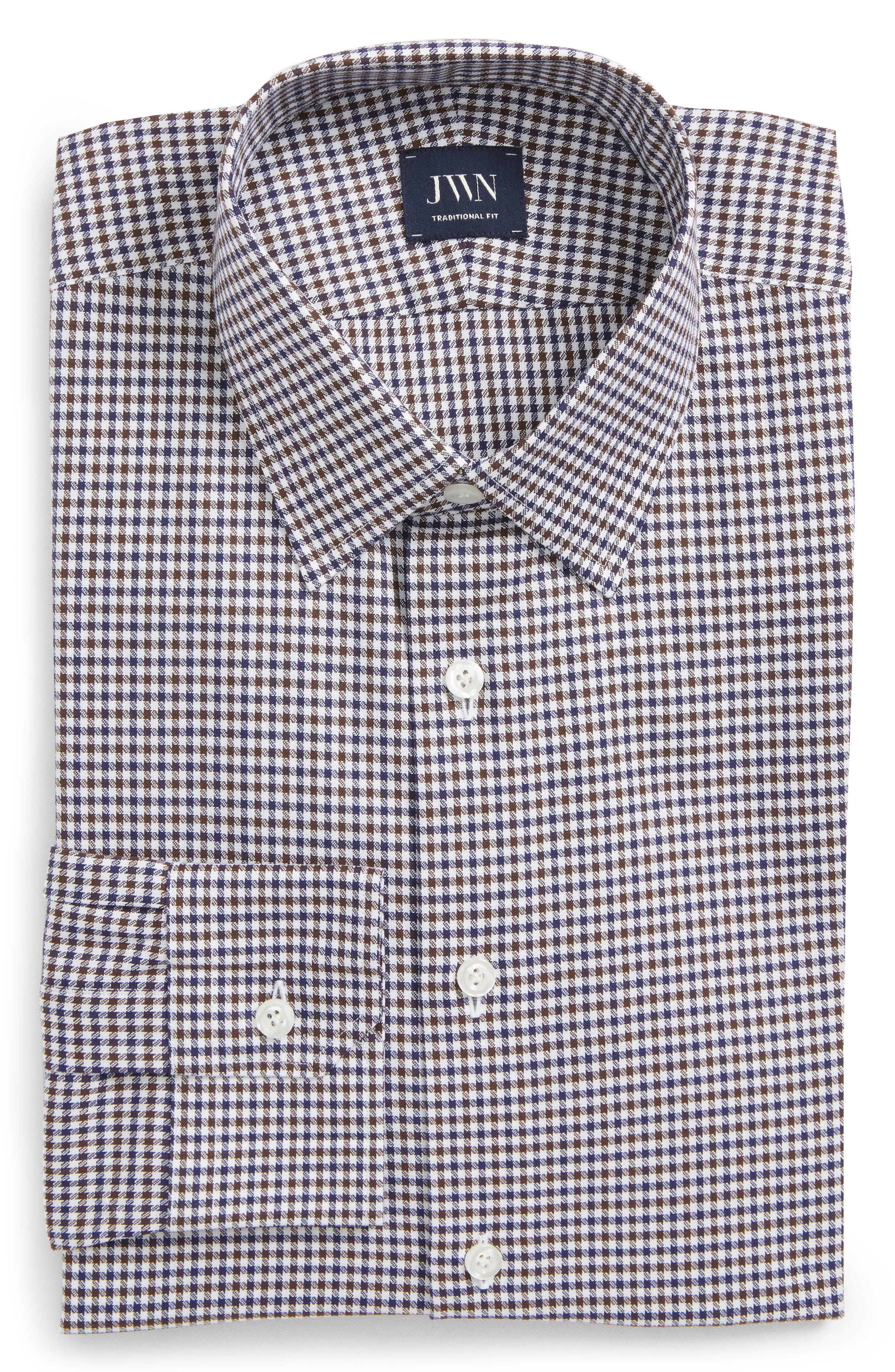 John W. Nordstrom® Traditional Fit Check Dress Shirt