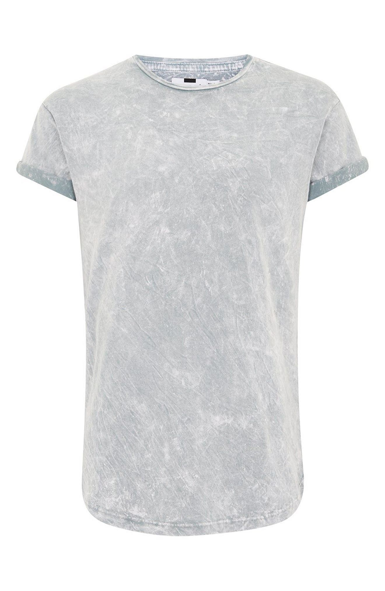 Crinkle Marble T-Shirt,                             Alternate thumbnail 4, color,                             Grey