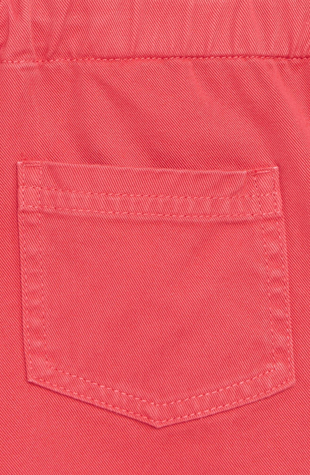 Frill Detail Shorts,                             Alternate thumbnail 3, color,                             Strawberry Split Pin