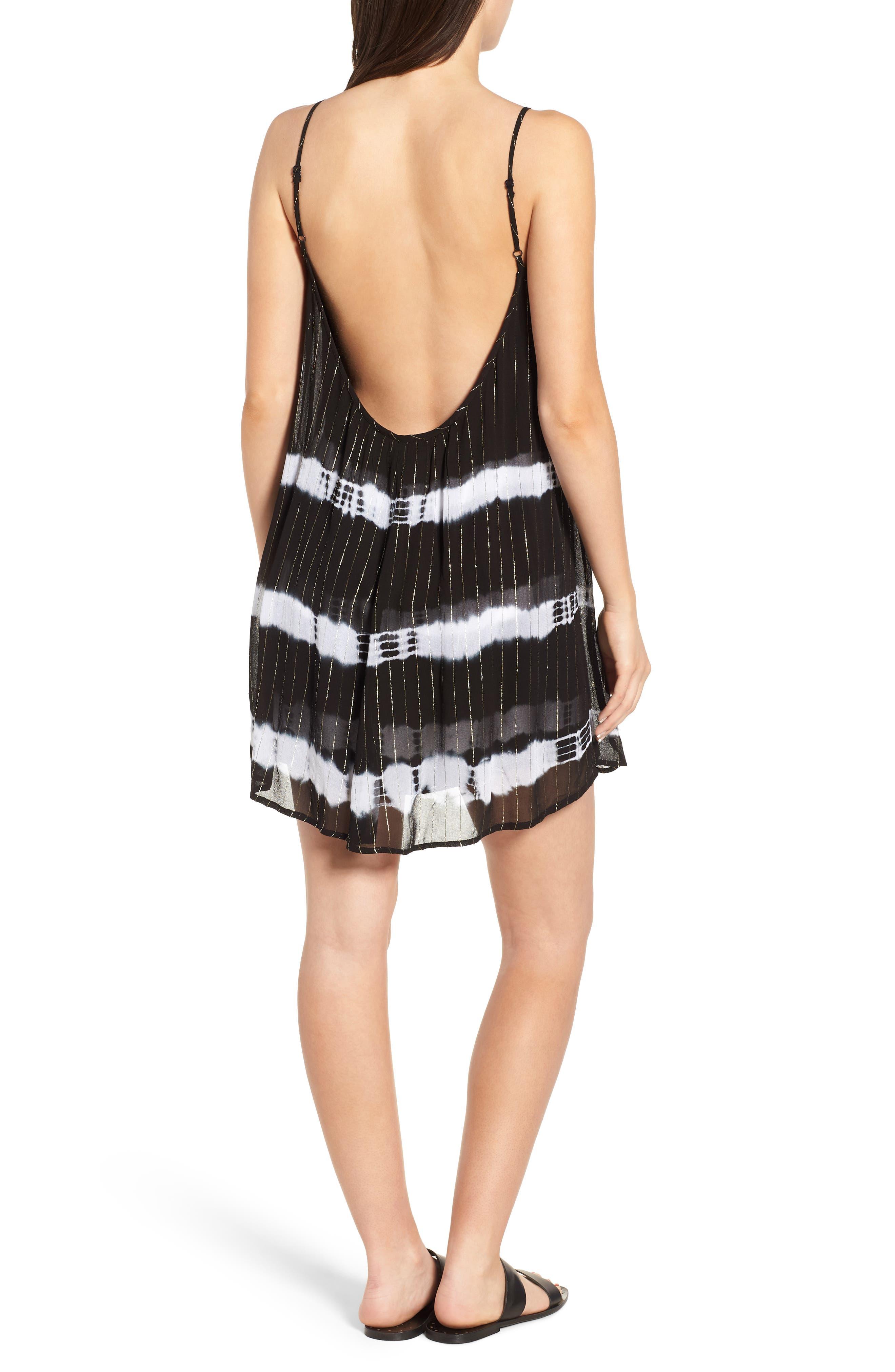 Dos Ojos Tie Dye Cover Up Dress,                             Alternate thumbnail 2, color,                             Black Multi