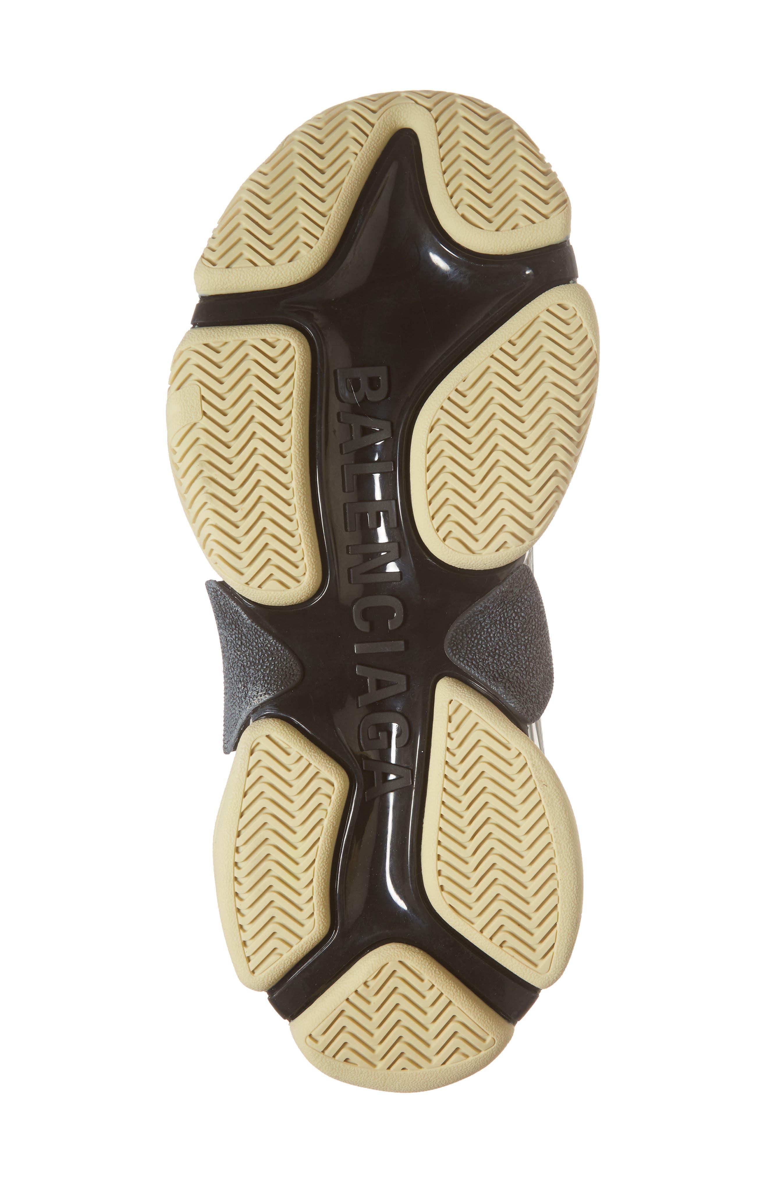 Triple S Retro Sneaker,                             Alternate thumbnail 6, color,                             Black/ Bordeaux