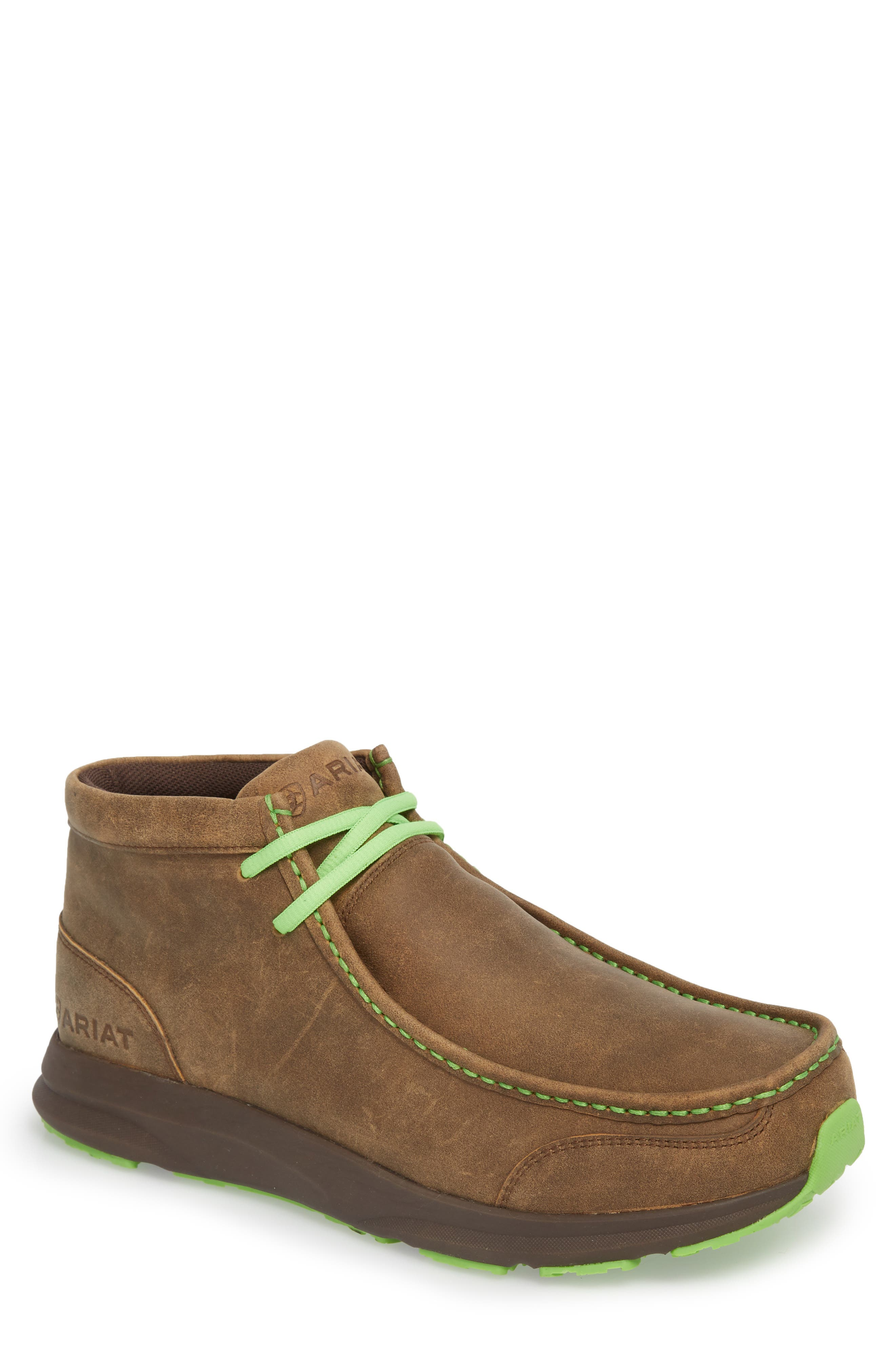 Spitfire Chukka Boot,                             Main thumbnail 1, color,                             Brown Bomber Leather