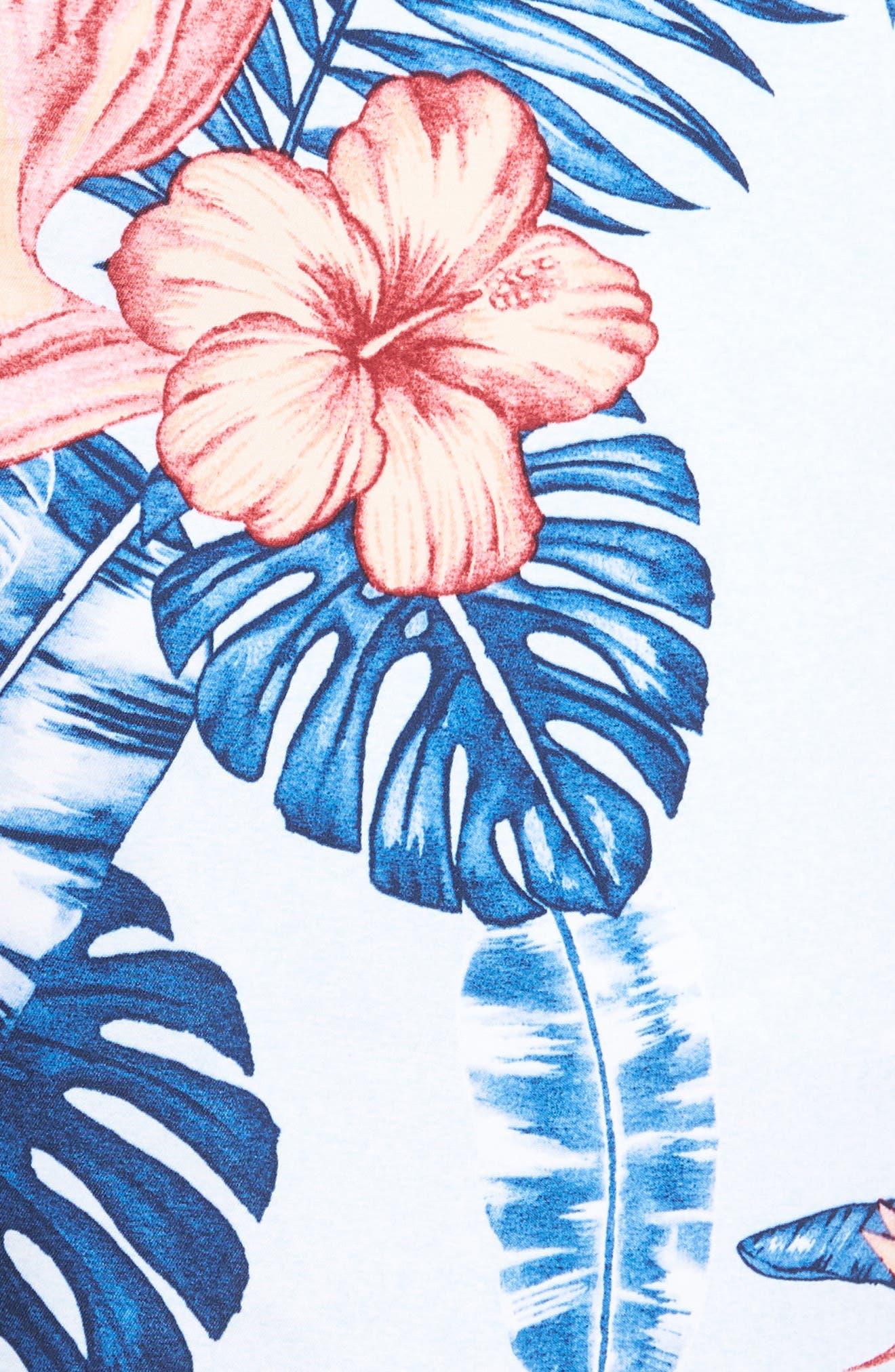 Baja Casa Rosa Board Shorts,                             Alternate thumbnail 5, color,                             Mountain Bluebell