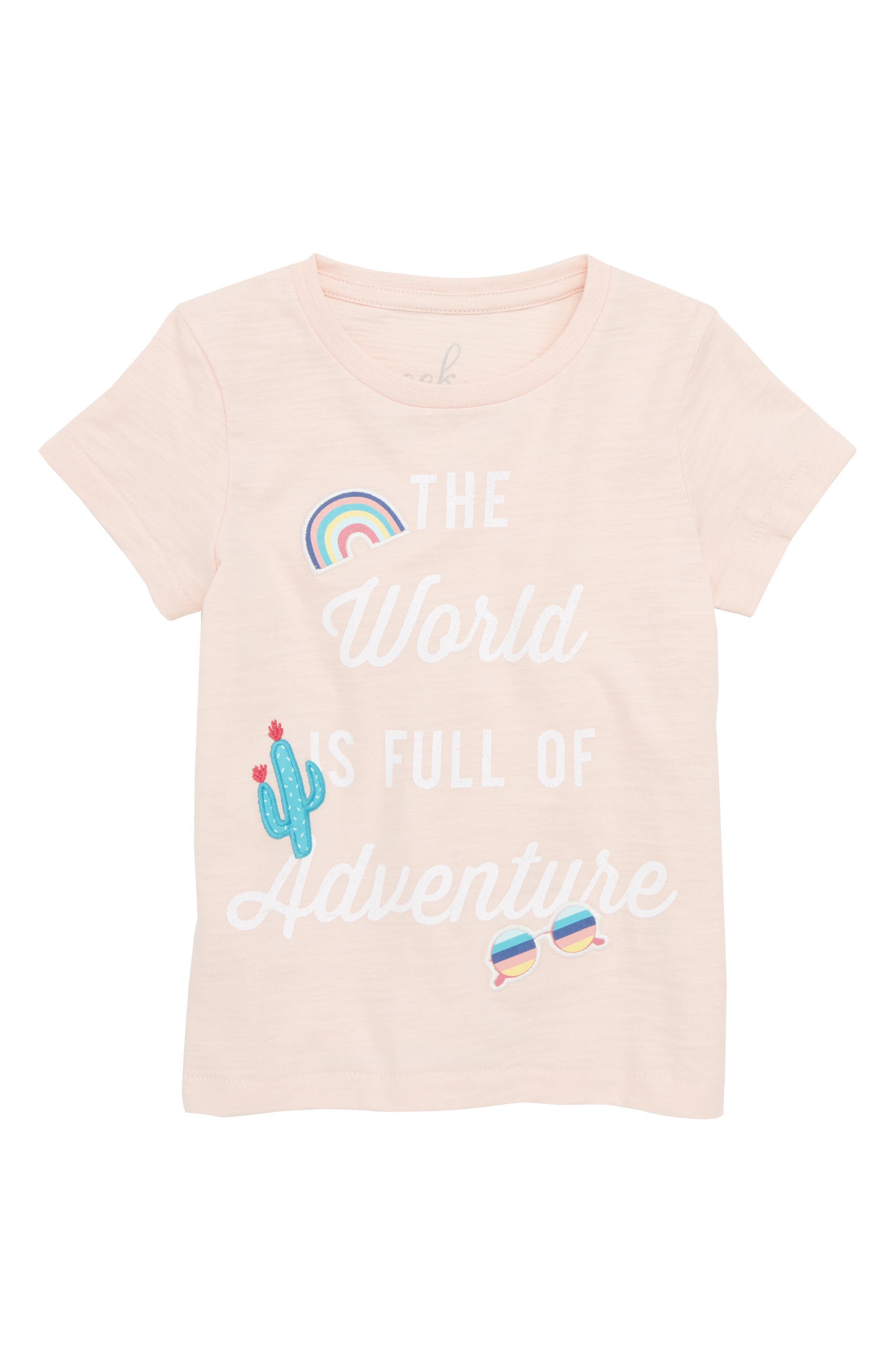 Peek Full of Adventure Graphic Tee (Toddler Girls, Little Girls & Big Girls)