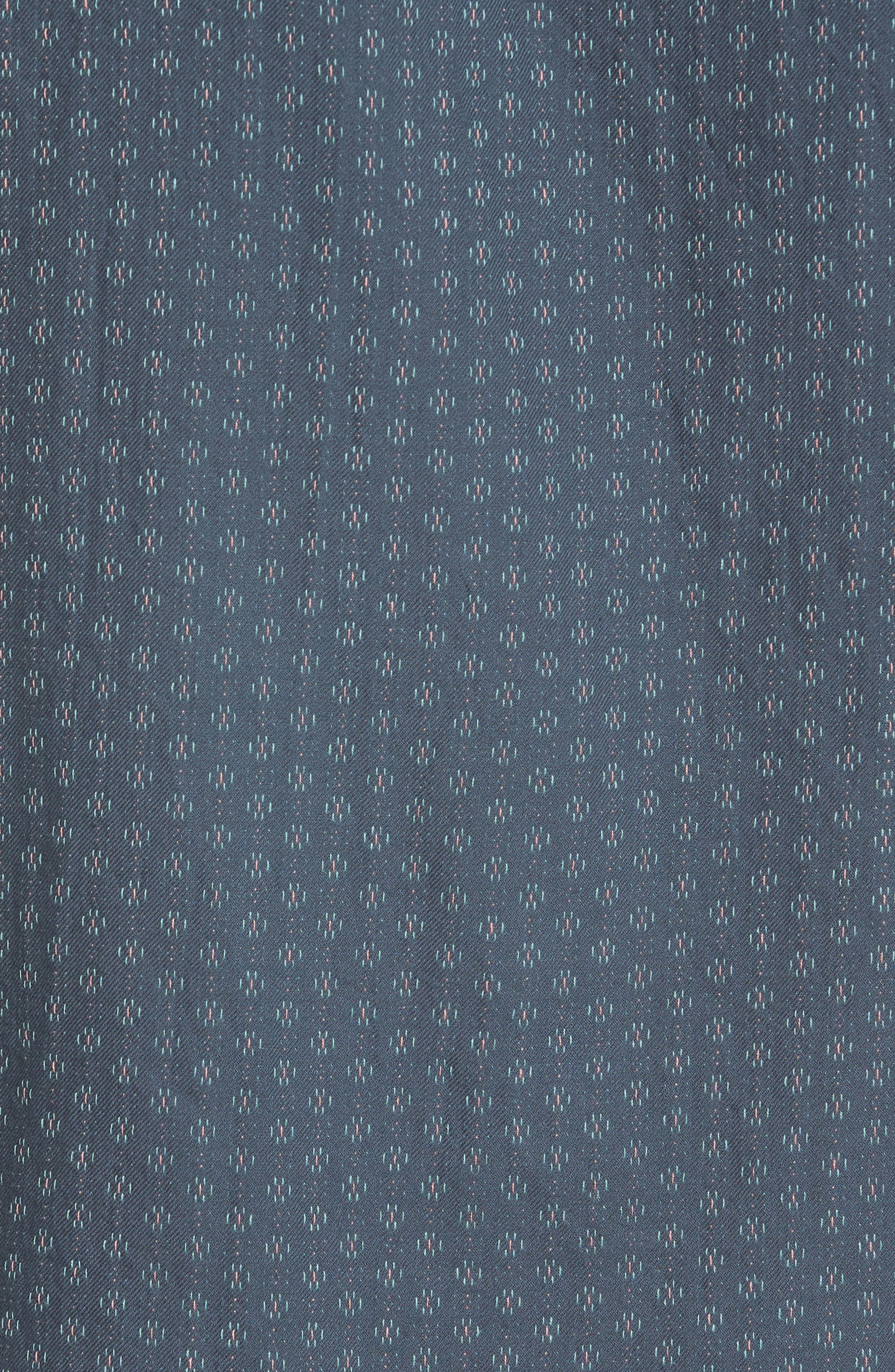 Circuit Woven Shirt,                             Alternate thumbnail 5, color,                             Dark Teal