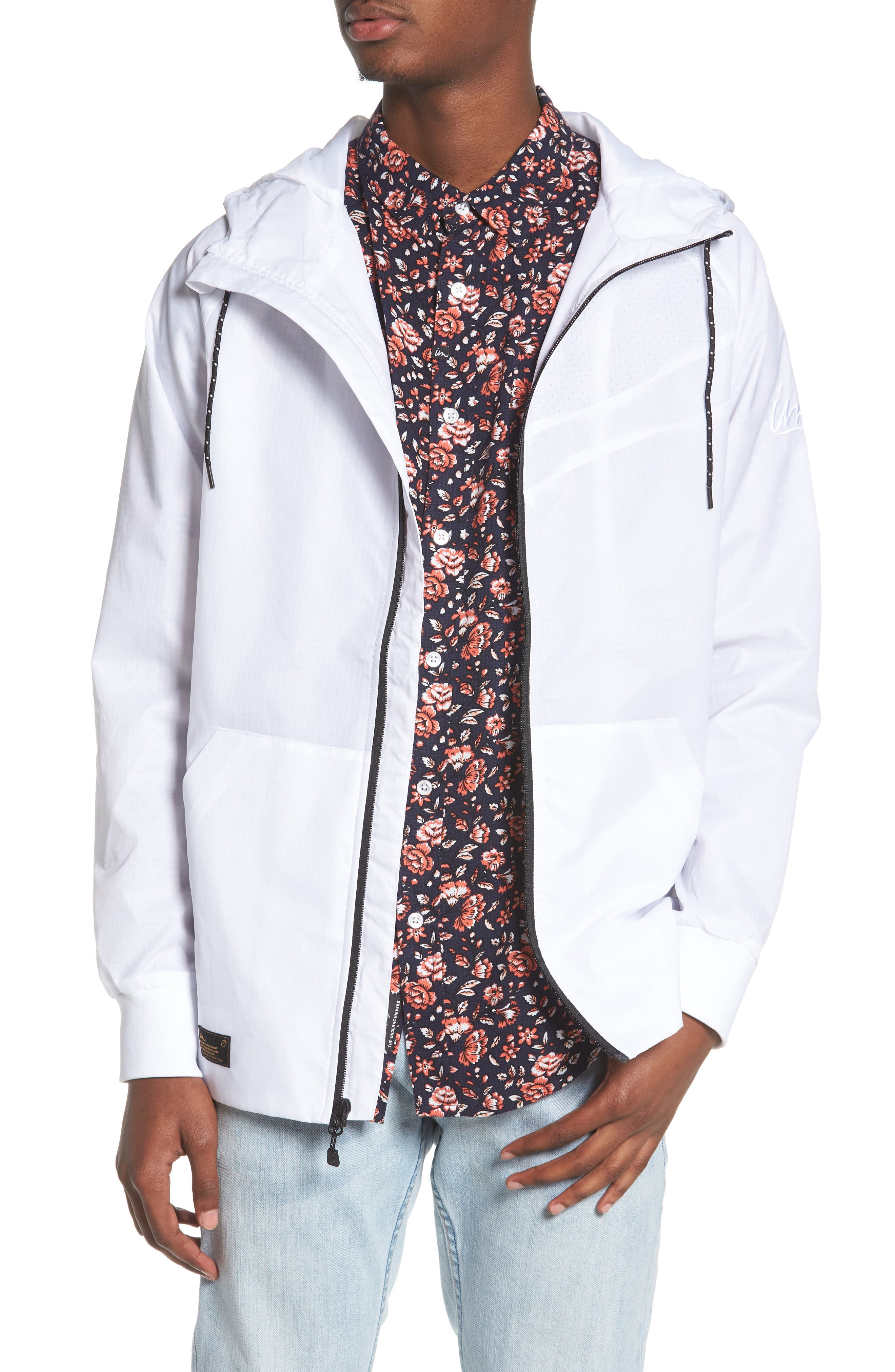 NCT Bezel Packable Anorak,                         Main,                         color, White