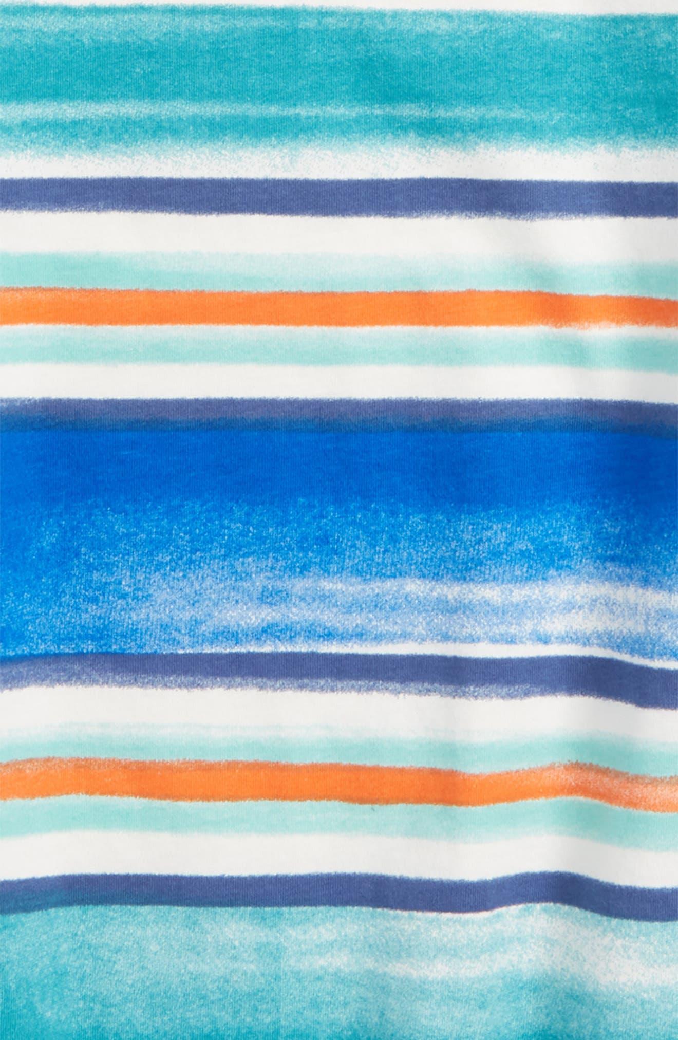 Painterly Stripe T-Shirt,                             Alternate thumbnail 3, color,                             Southwest Sky