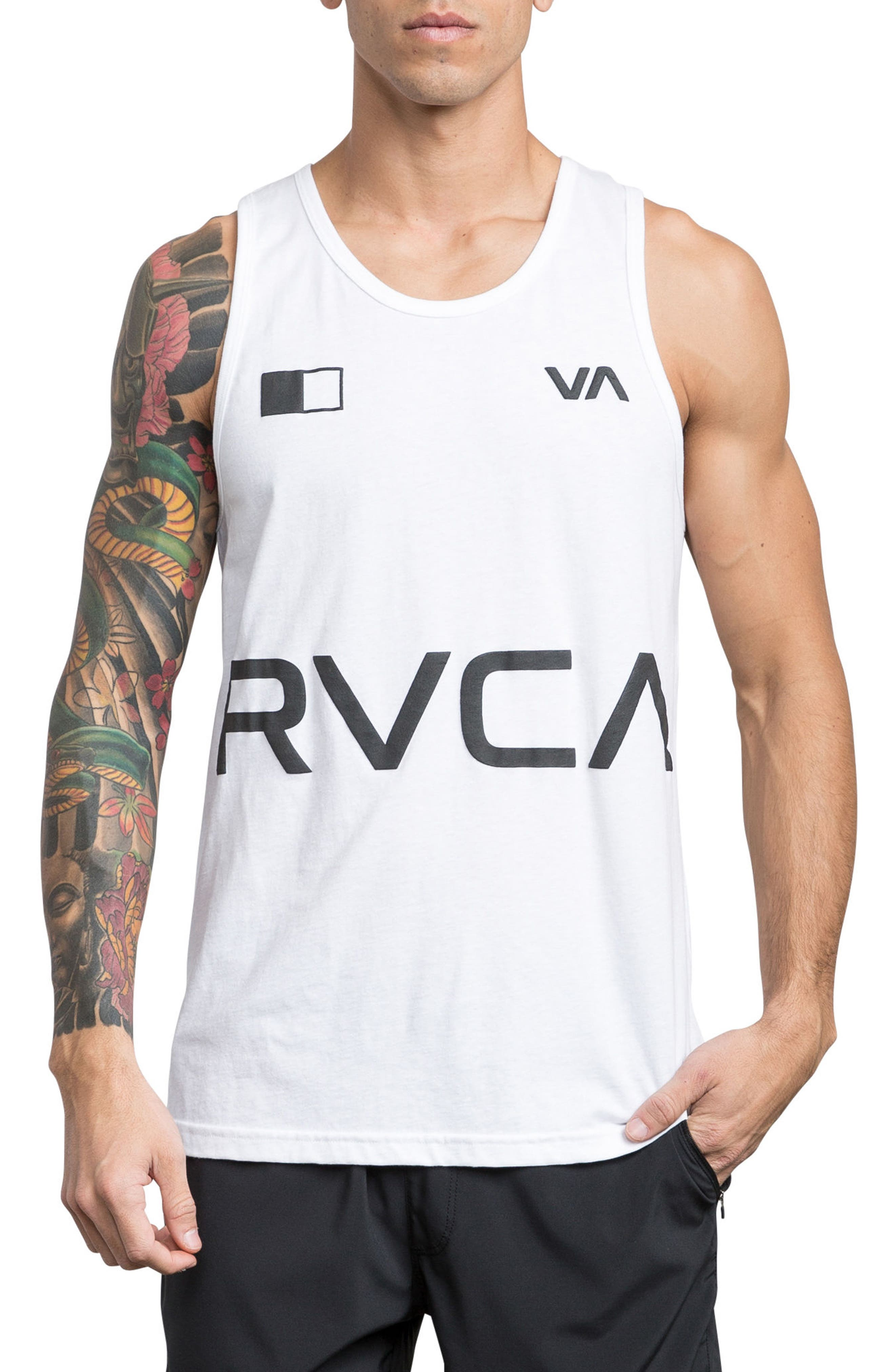 Banner Graphic Tank,                             Main thumbnail 1, color,                             White
