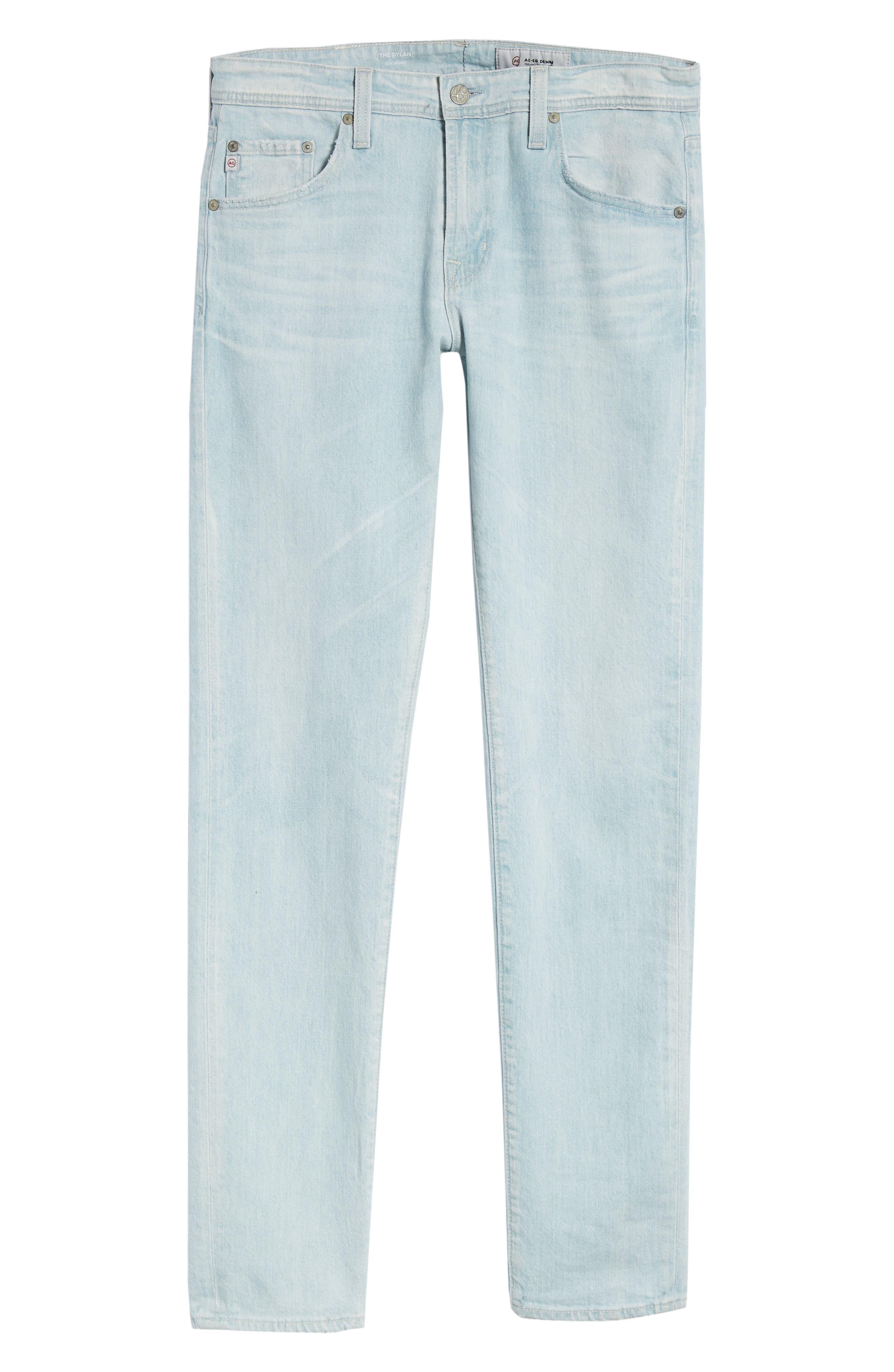 Dylan Skinny Fit Jeans,                             Alternate thumbnail 6, color,                             28 Years Salt Mist