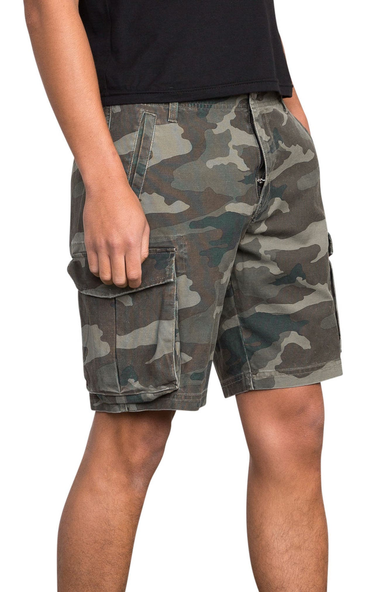 Wannabe Cargo Shorts,                             Alternate thumbnail 4, color,                             Camo