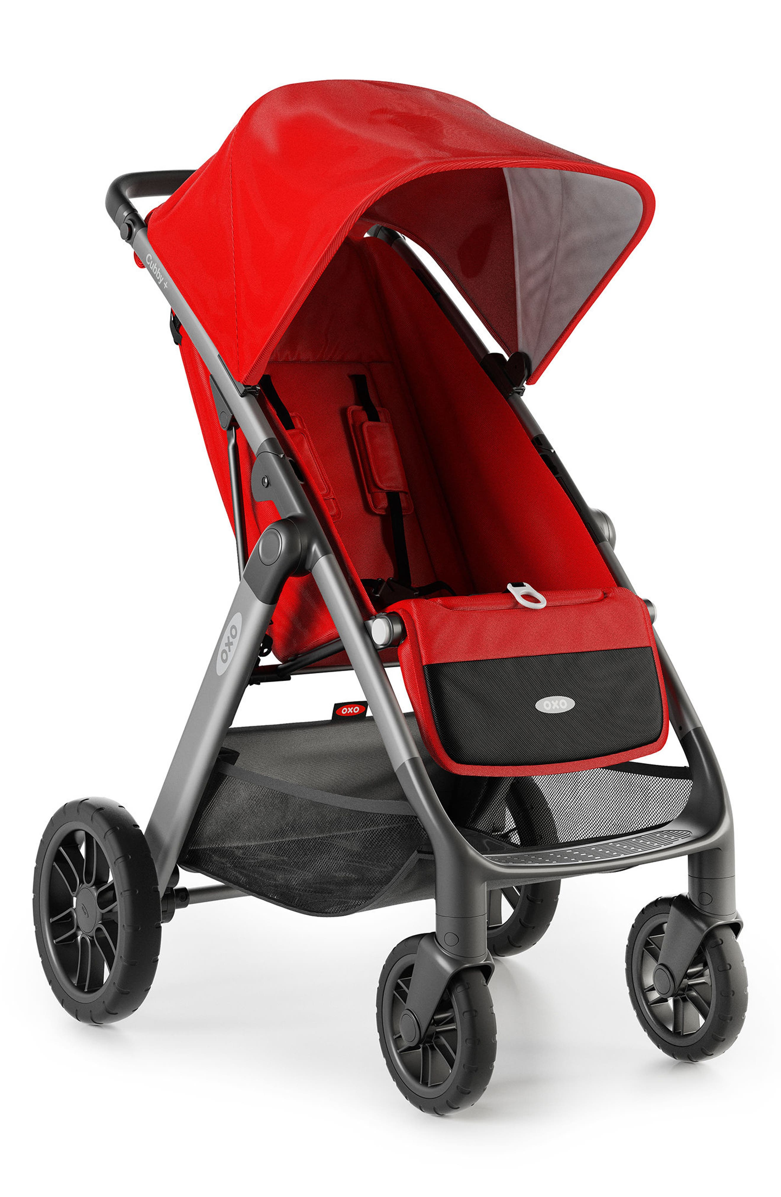 Cubby+ Stroller,                         Main,                         color, Red