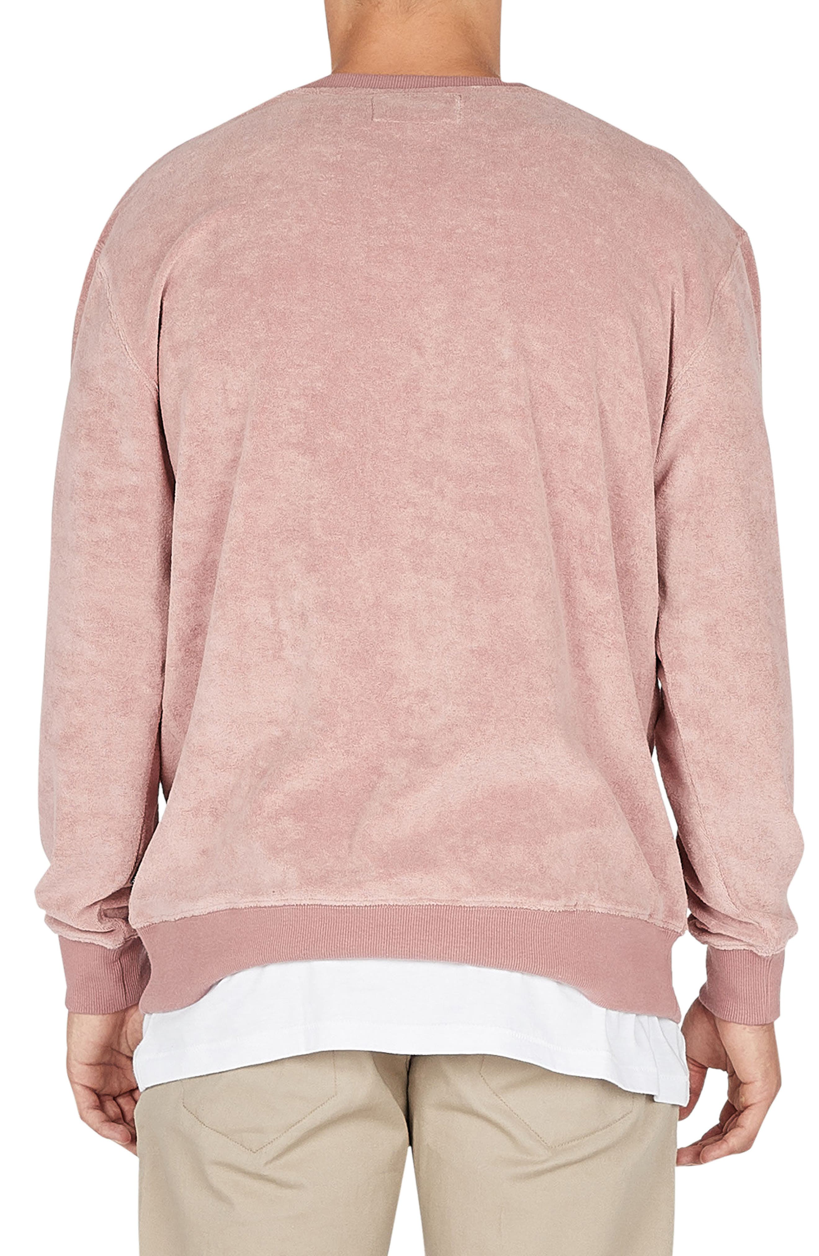 Terry Sweatshirt,                             Alternate thumbnail 2, color,                             Rose