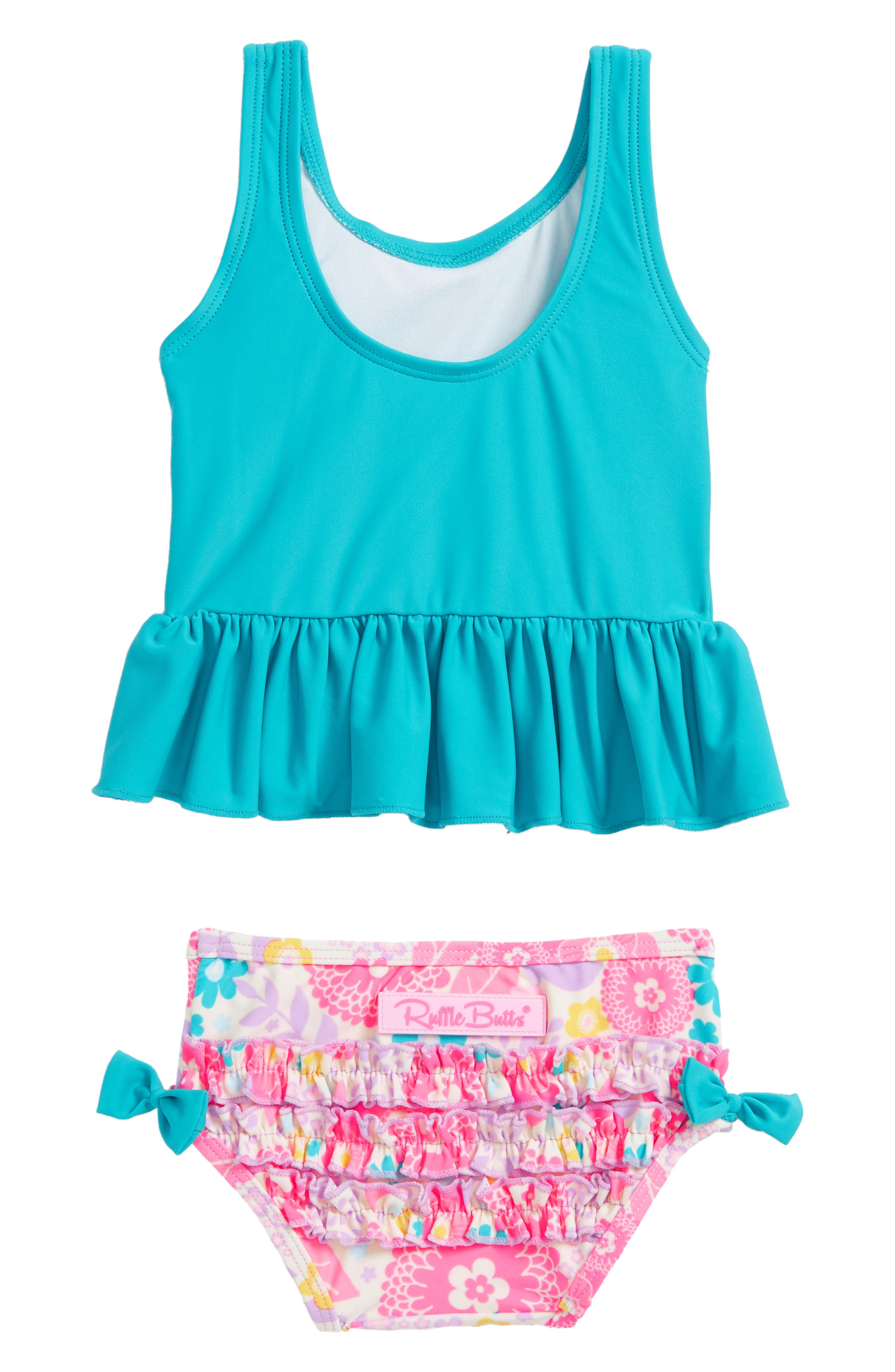 Blooming Peplum Two-Piece Swimsuit,                             Alternate thumbnail 2, color,                             Key West