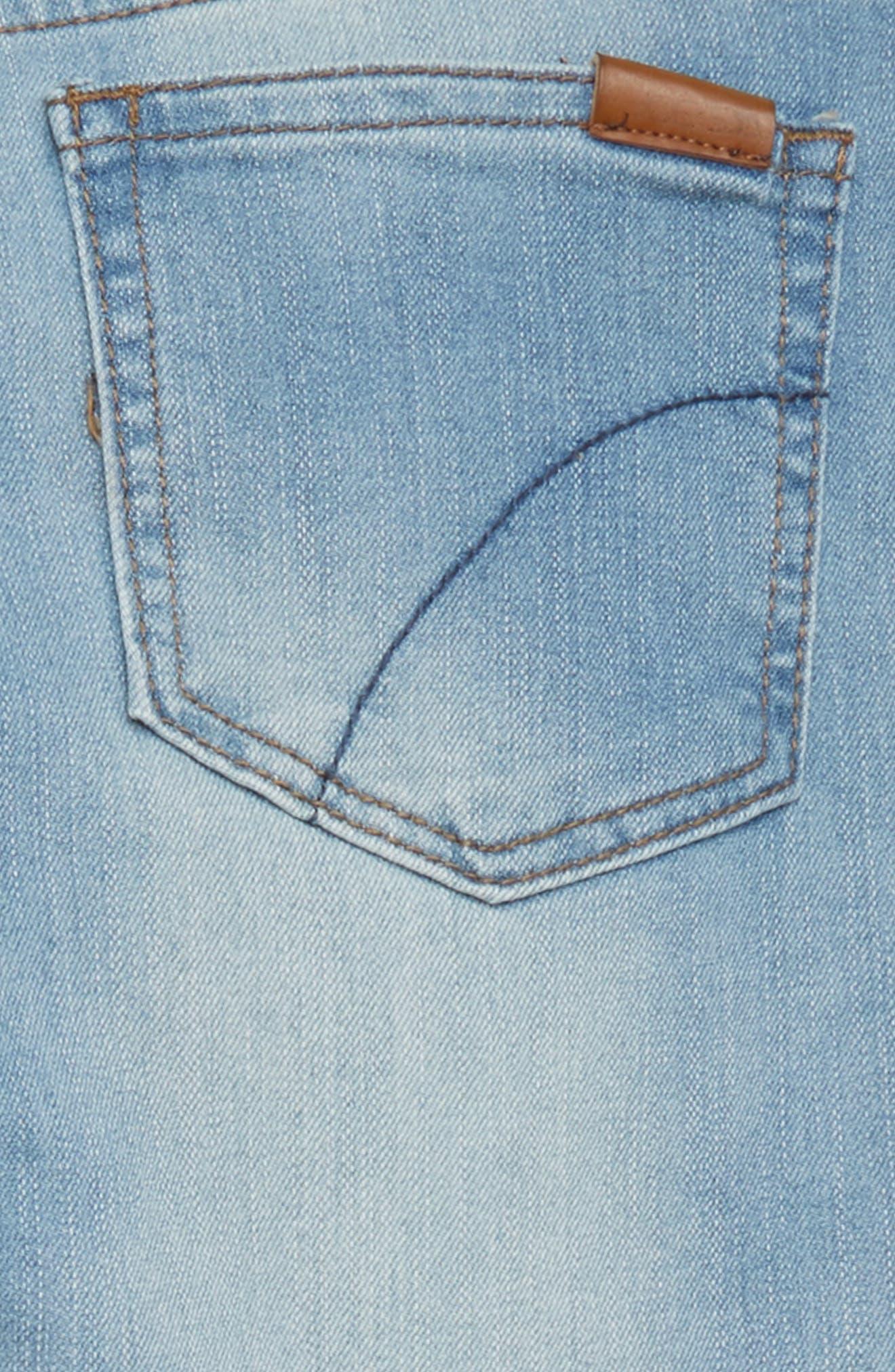 The Markie Release Hem Skinny Jeans,                             Alternate thumbnail 3, color,                             Louie Bloo