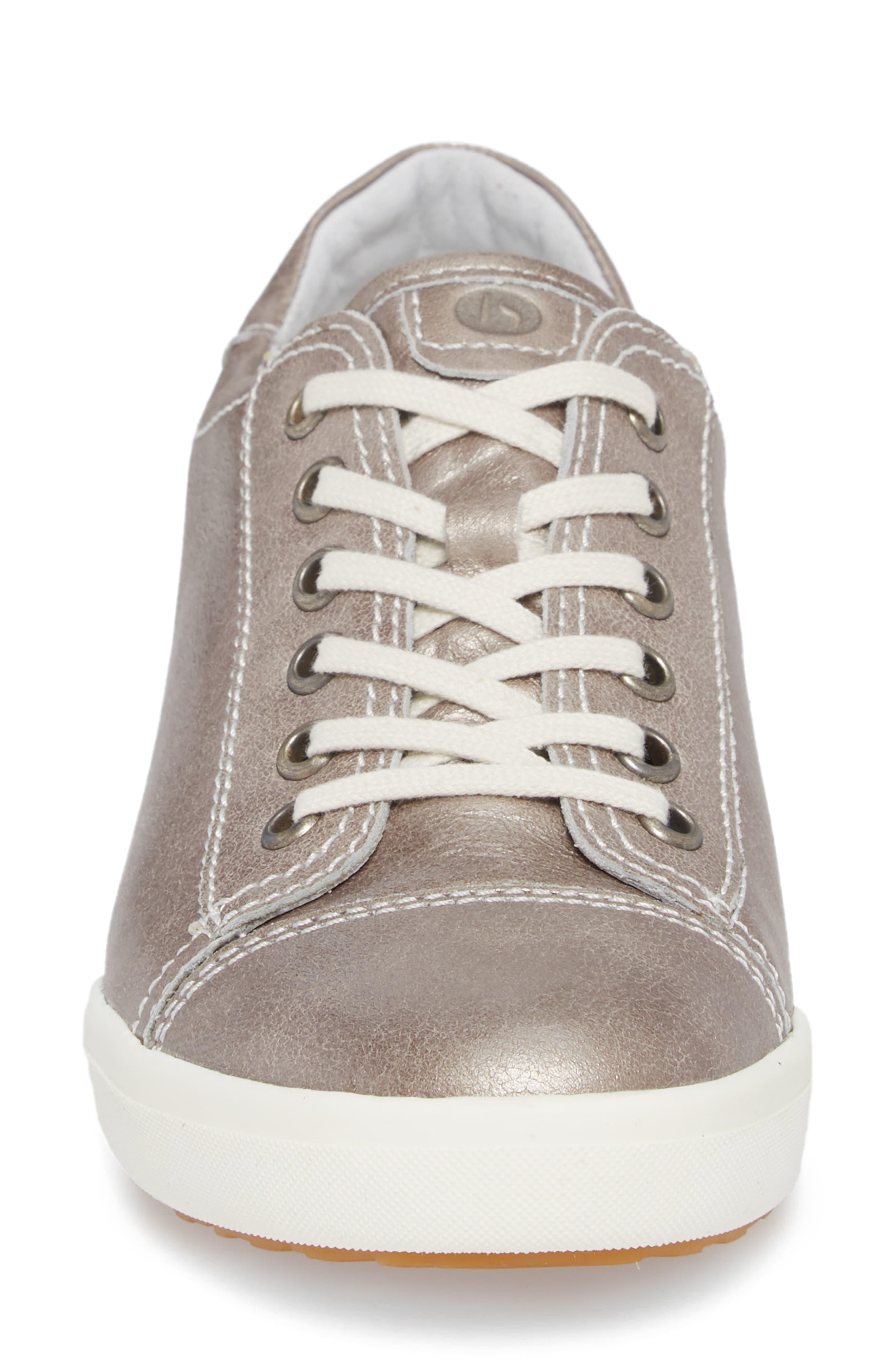 Sina 11 Sneaker,                             Alternate thumbnail 4, color,                             Platin Leather