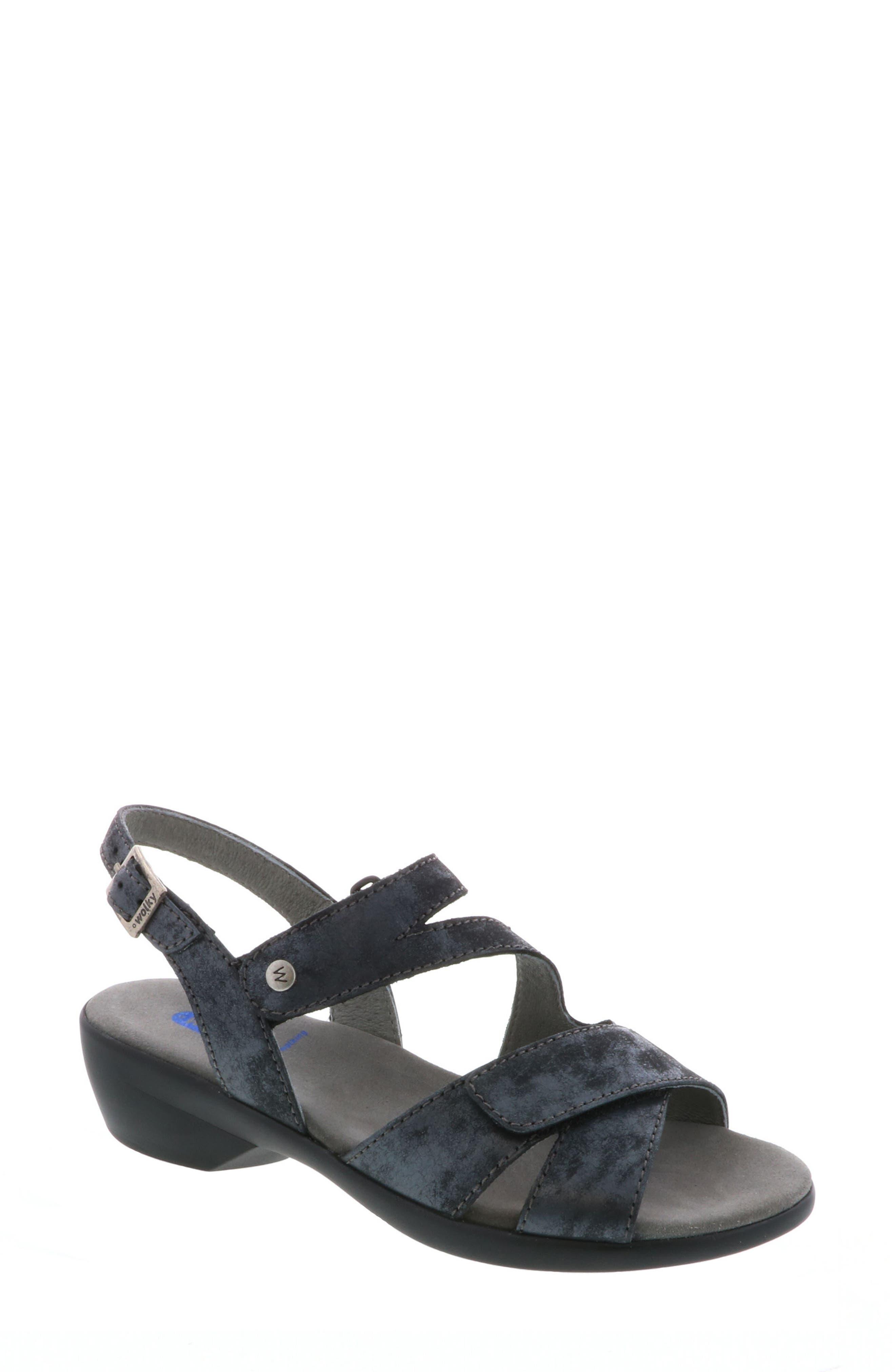 Fria Sandal,                             Main thumbnail 1, color,                             Black Nubuck