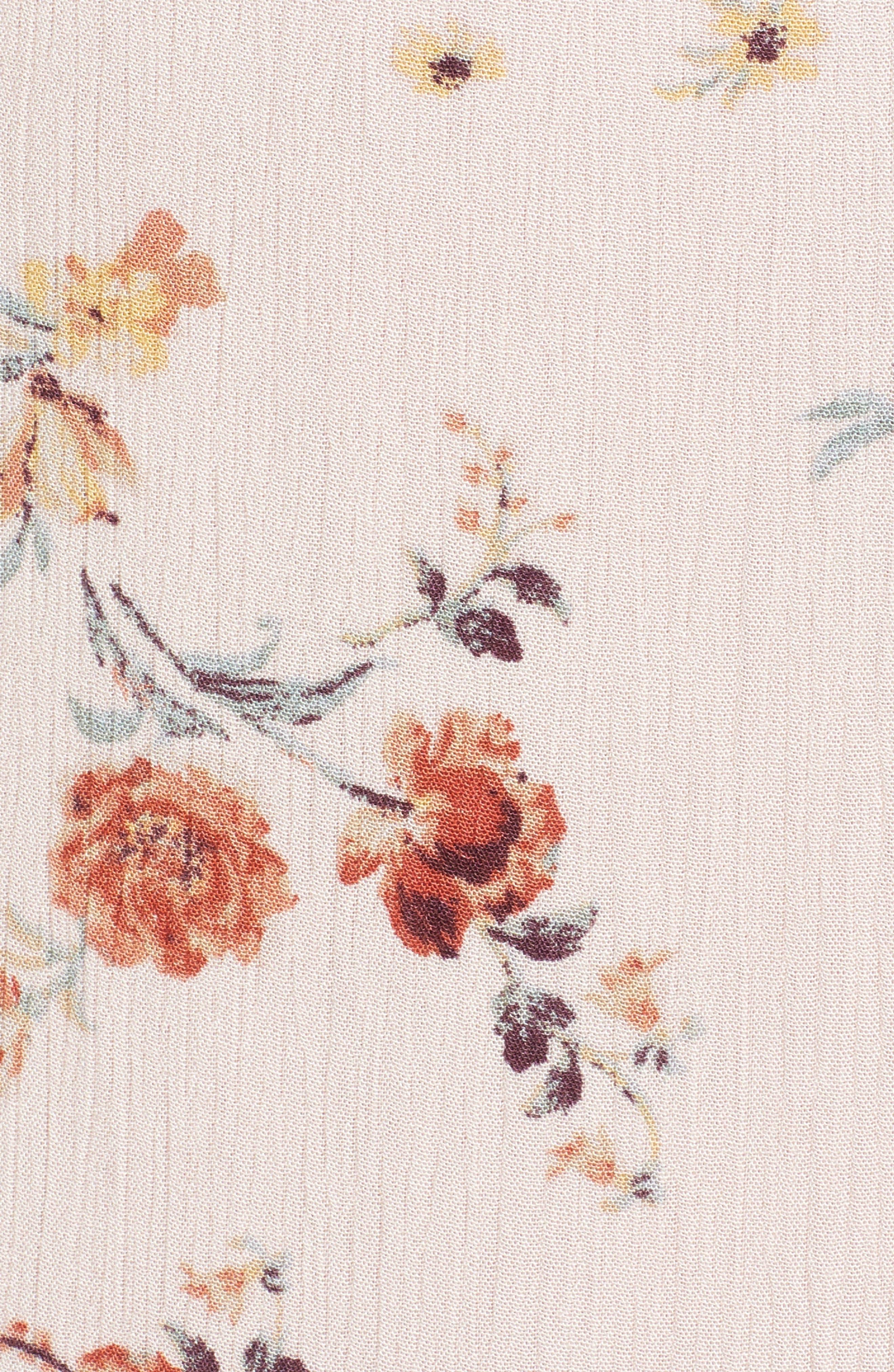 Rosa Floral Maxi Skirt,                             Alternate thumbnail 6, color,                             Pink Floral
