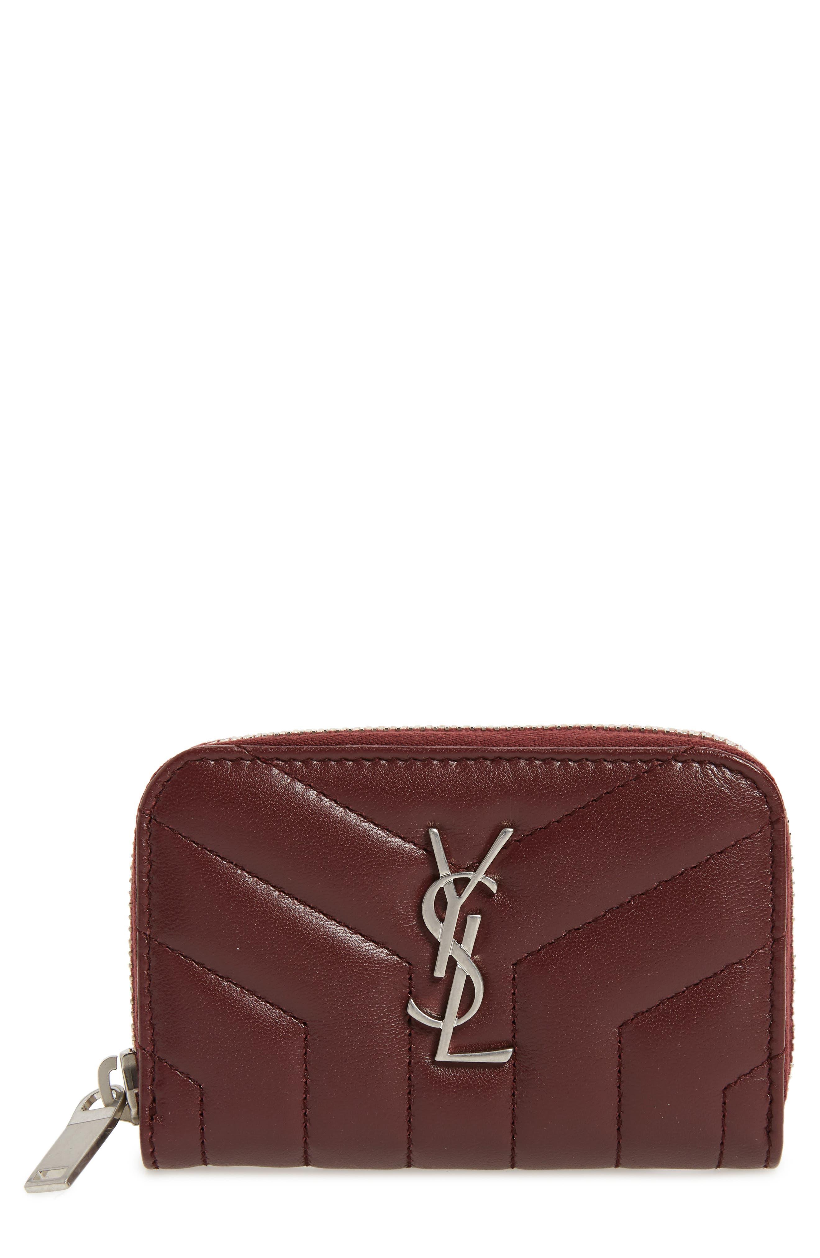 Saint Laurent Lou Lou Matelassé Leather Card Wallet