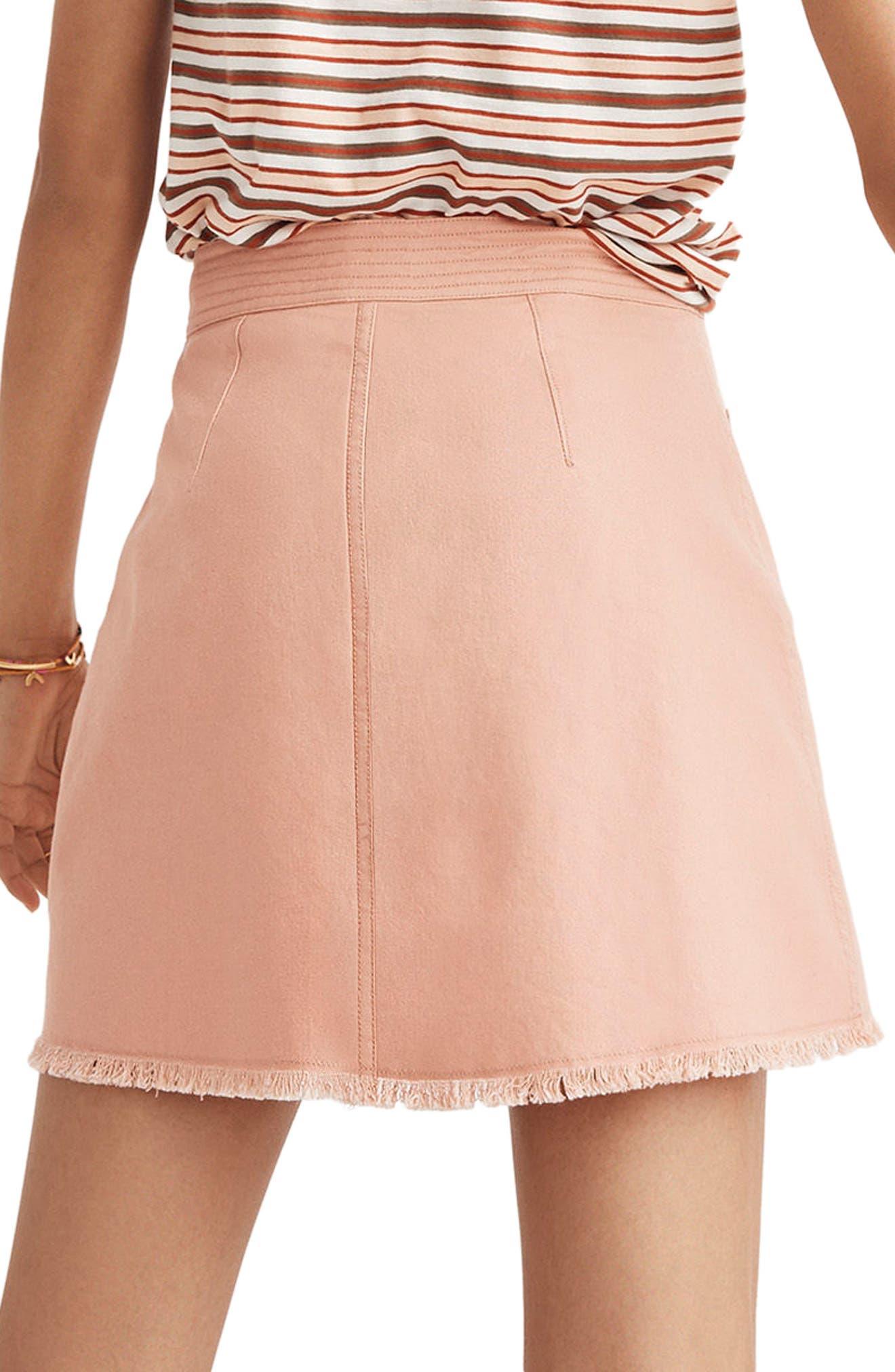 A-Line Zip Skirt,                             Alternate thumbnail 2, color,                             Antique Coral