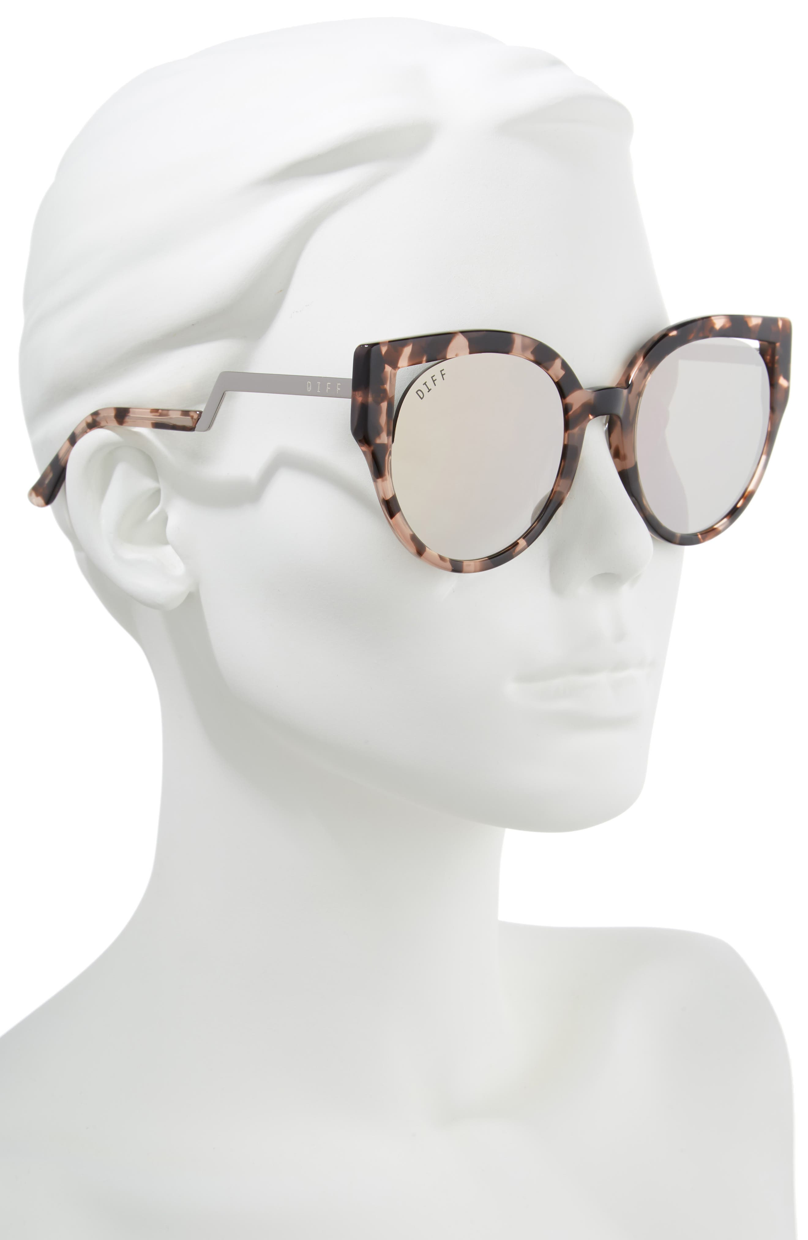 Penny 55mm Cat Eye Sunglasses,                             Alternate thumbnail 2, color,                             Himalayan Tortoise/ Taupe