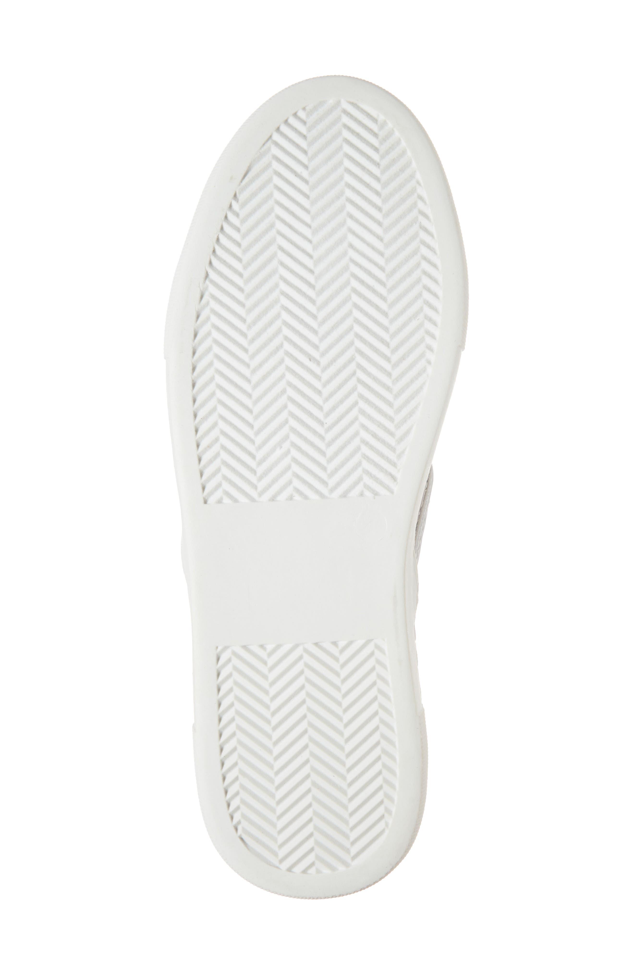 Monte Woven Slip-On Sneaker,                             Alternate thumbnail 4, color,                             Silver Satin