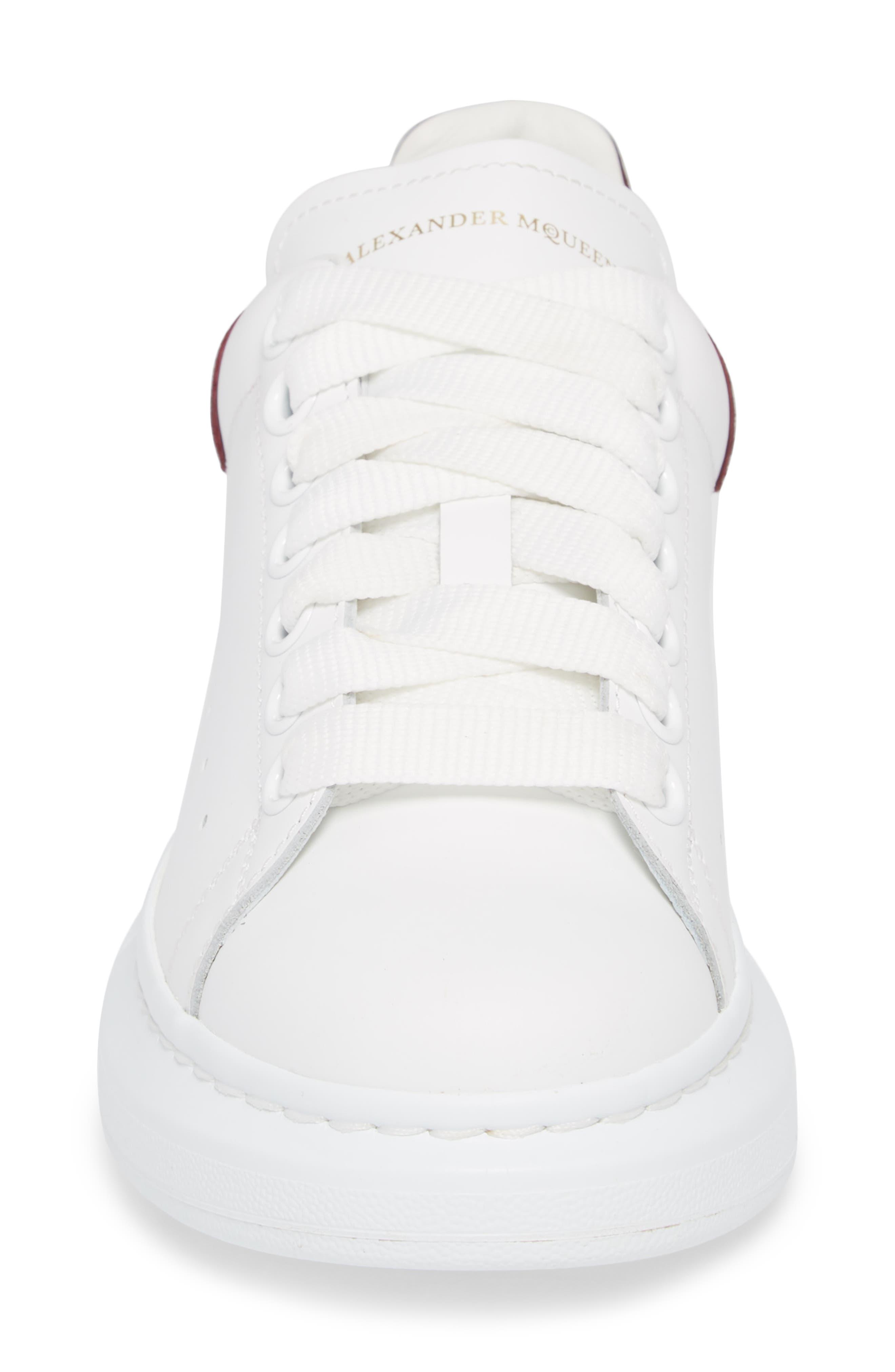 Sneaker,                             Alternate thumbnail 4, color,                             White/ Burgundy