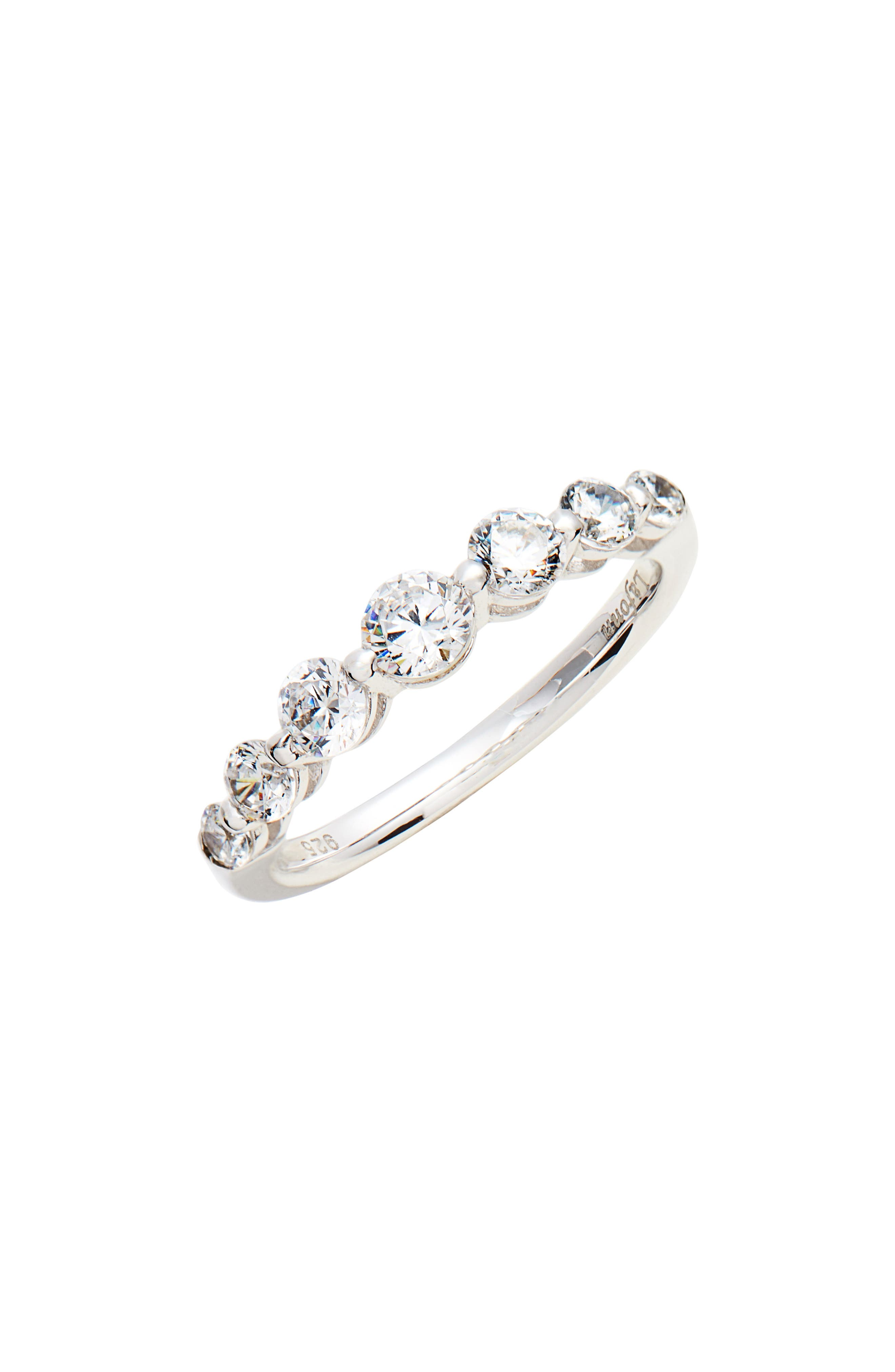 7 Symbols of Joy Ring,                         Main,                         color, Silver/ Clear